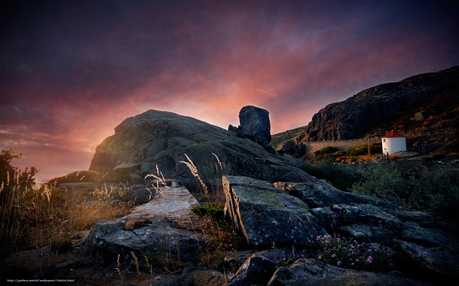 Скачать обои португалия,  закат,  горы бесплатно для рабочего стола в разрешении 2560x1600 — картинка №76826