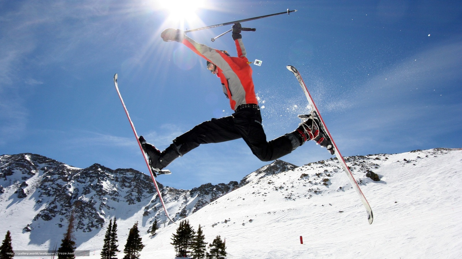 Tlcharger Fond d'ecran neige,  sommets,  skieur,  vol Fonds d'ecran gratuits pour votre rsolution du bureau 1920x1080 — image №77039