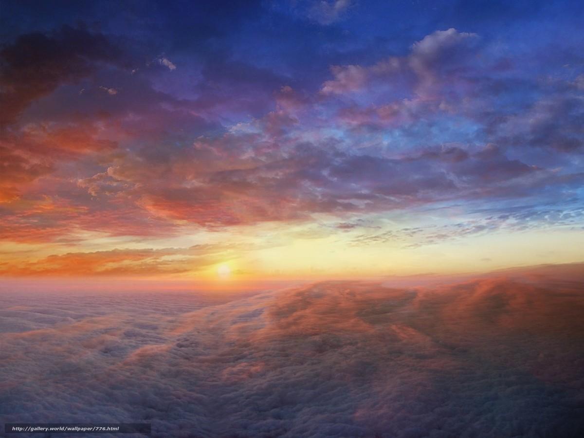 Tlcharger Fond d'ecran nuages,  lever du soleil,  ciel Fonds d'ecran gratuits pour votre rsolution du bureau 1600x1200 — image №776