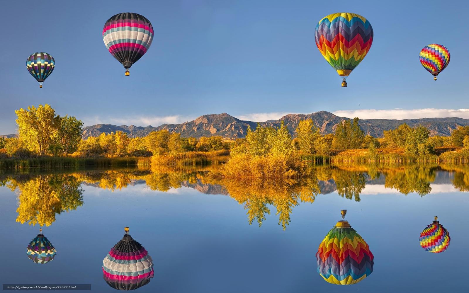 Скачать обои природа,  пейзажи,  воздушные,  шары бесплатно для рабочего стола в разрешении 1920x1200 — картинка №78077