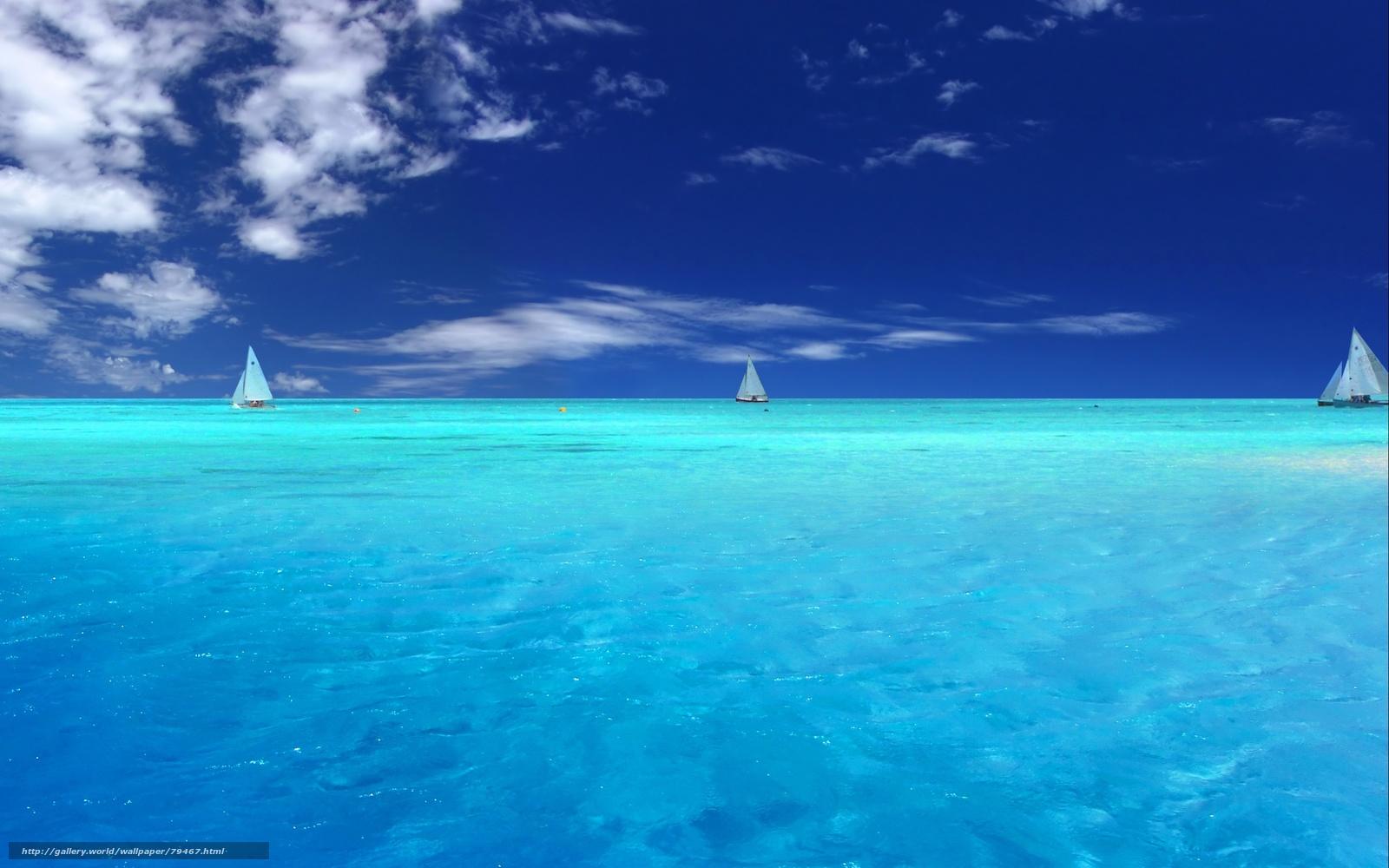 Scaricare Gli Sfondi Cielo Mare Acqua Azzurro Sfondi Gratis Per