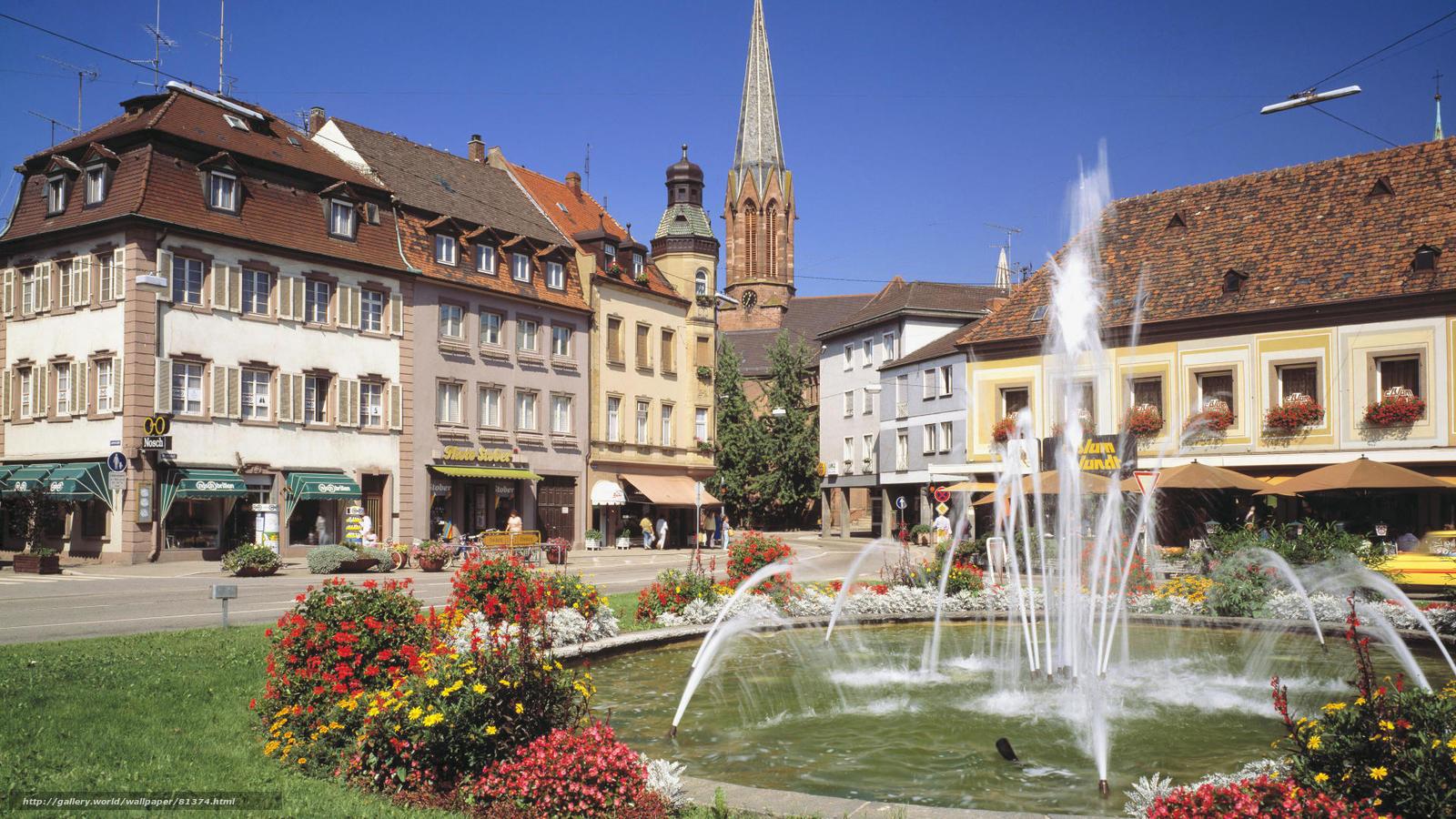 scaricare gli sfondi Germania,  Baden-Wuerttemberg,  fontana Sfondi gratis per la risoluzione del desktop 1920x1080 — immagine №81374