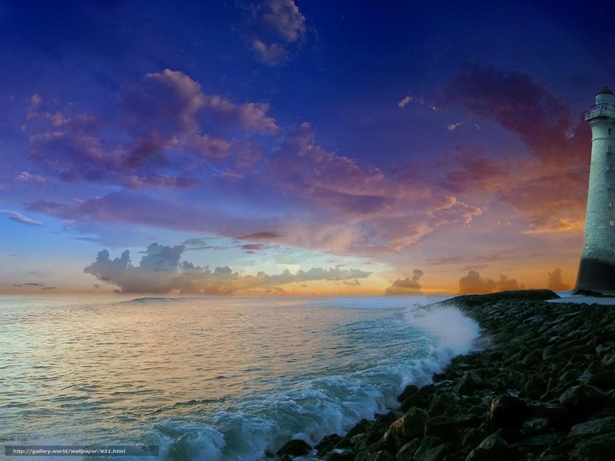 descarca imagini de fundal natur,  mare,  far Imagini de fundal gratuite pentru rezoluia desktop 1600x1200 — imagine №831
