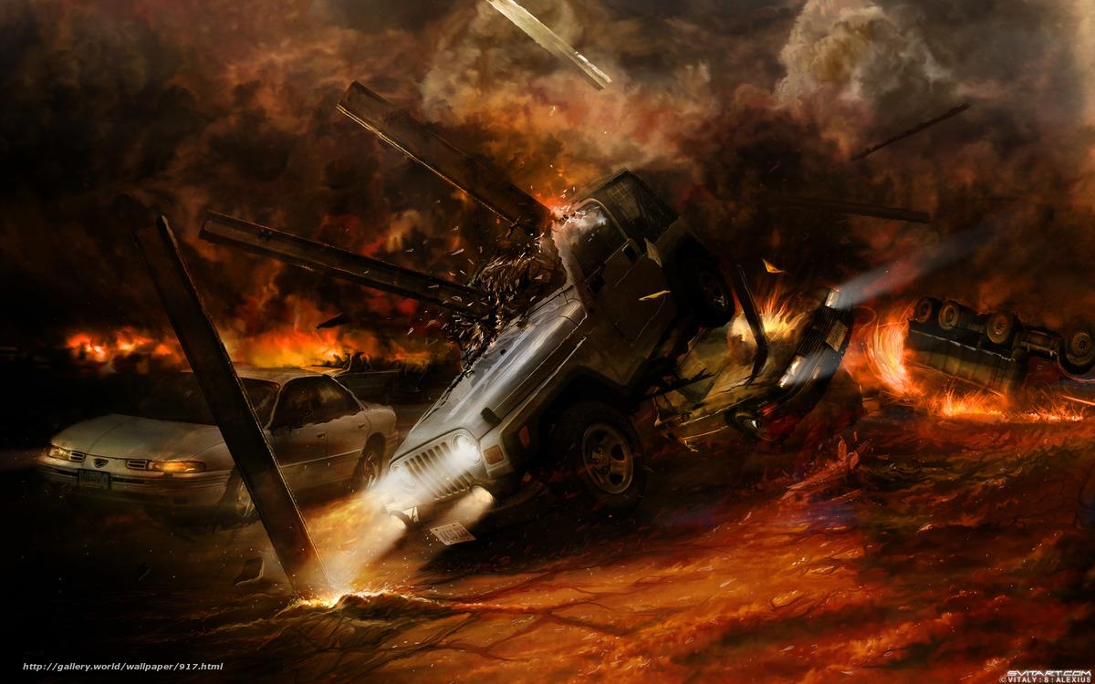 scaricare gli sfondi Esplosioni,  fuoco,  fuoco,  situazione Sfondi gratis per la risoluzione del desktop 2560x1600 — immagine №917