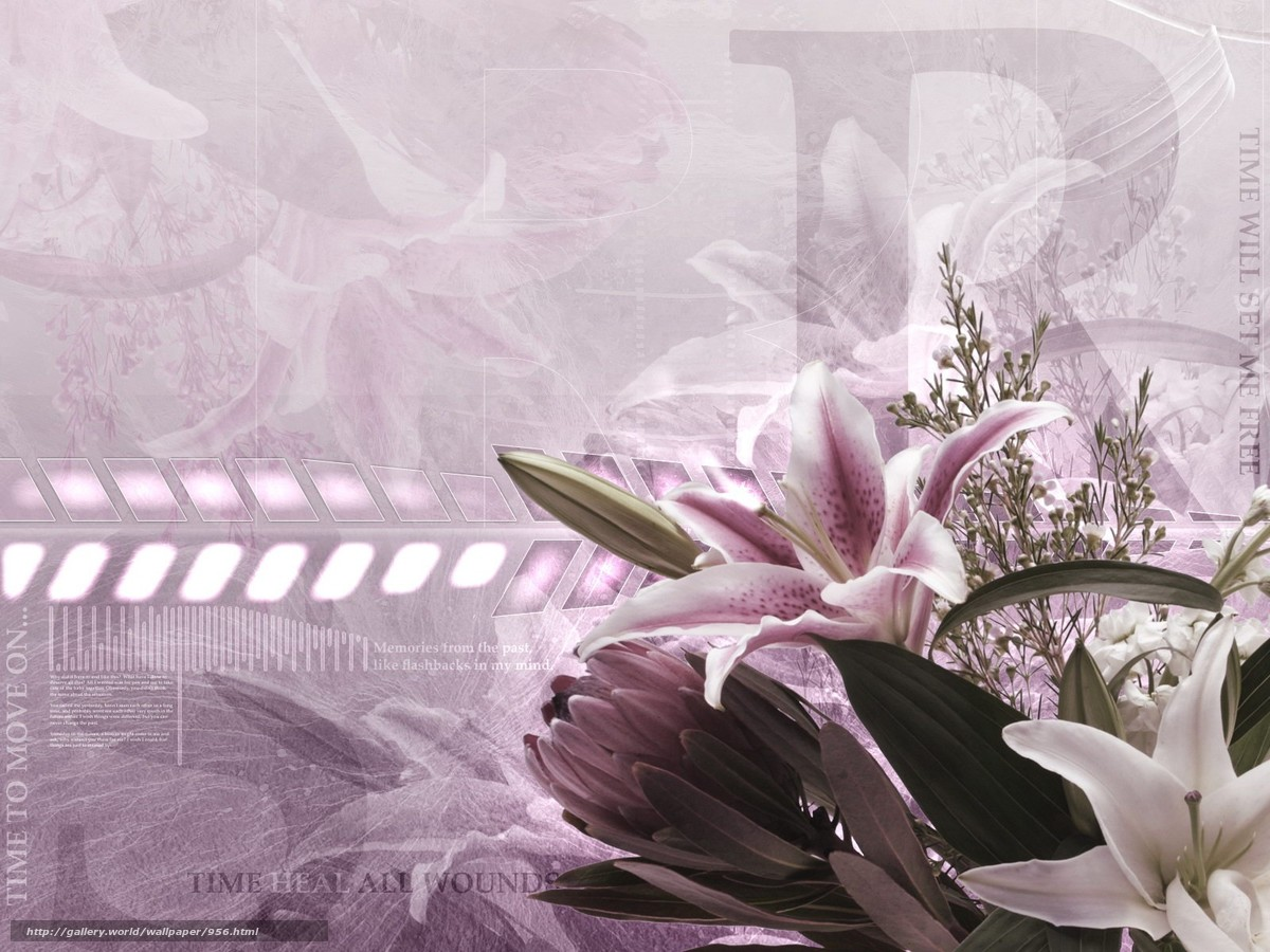 Download wallpaper bouquet,  flower,  Processing free desktop wallpaper in the resolution 1600x1200 — picture №956