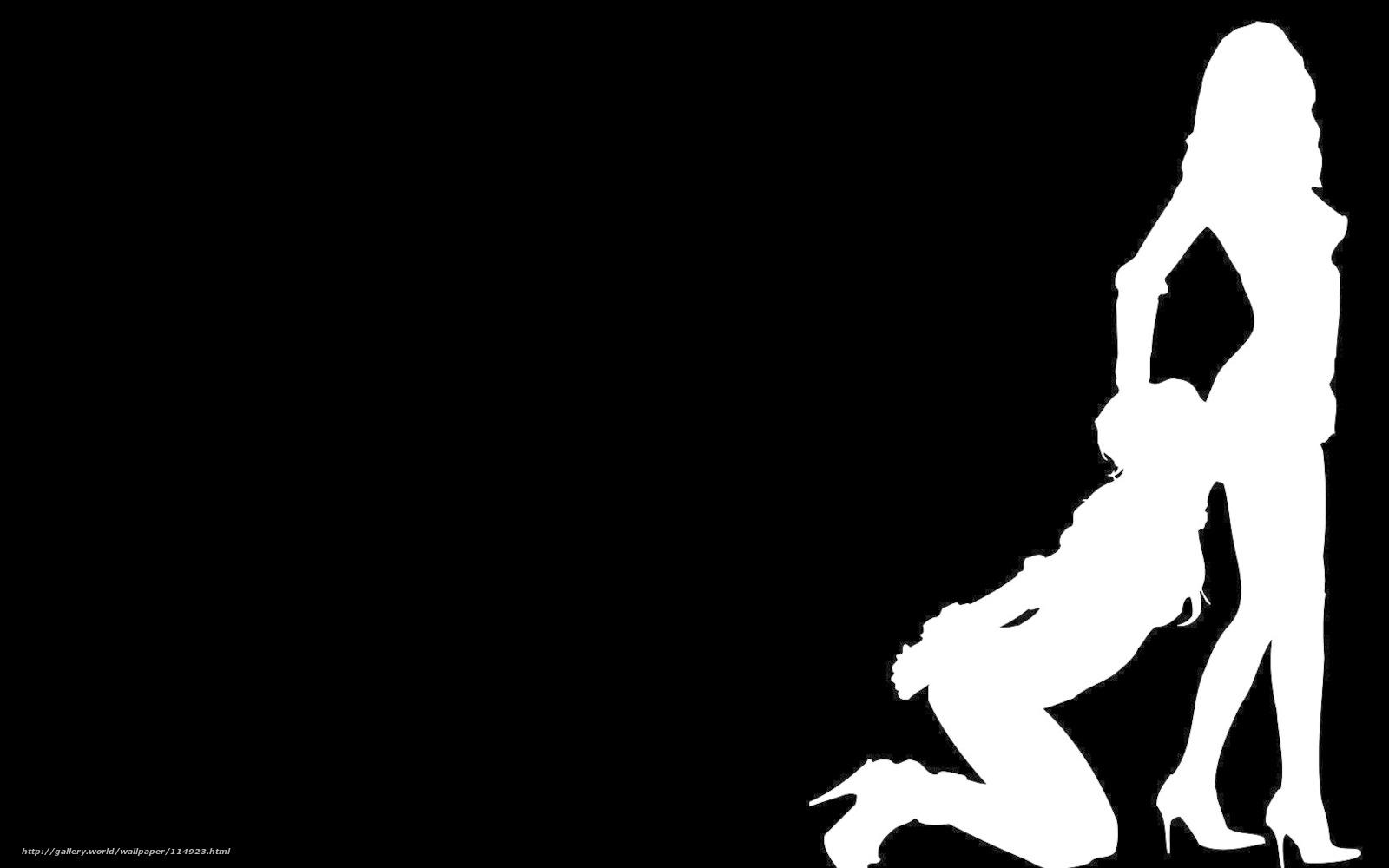 Черно белый силуэт голой девушки 10 фотография