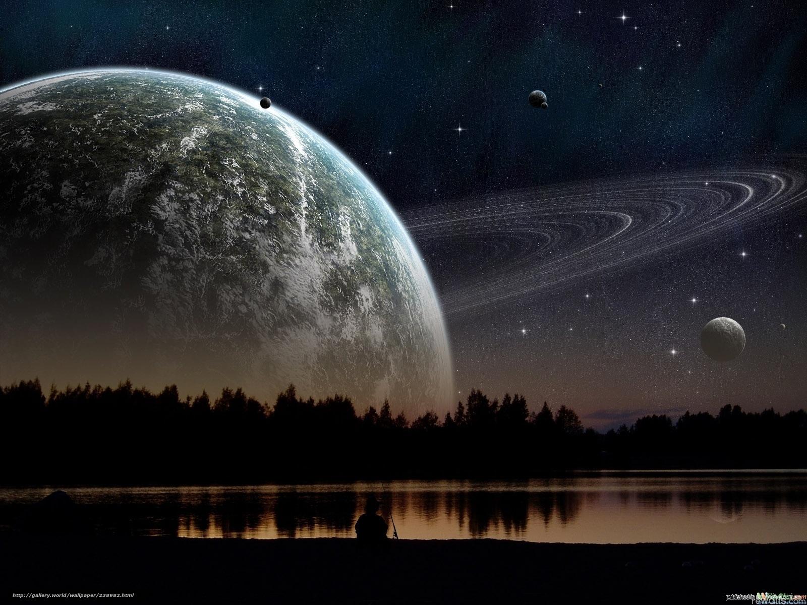 Скачать на телефон обои фото картинку на тему планета,  закат,  озеро, разширение 1600x1200