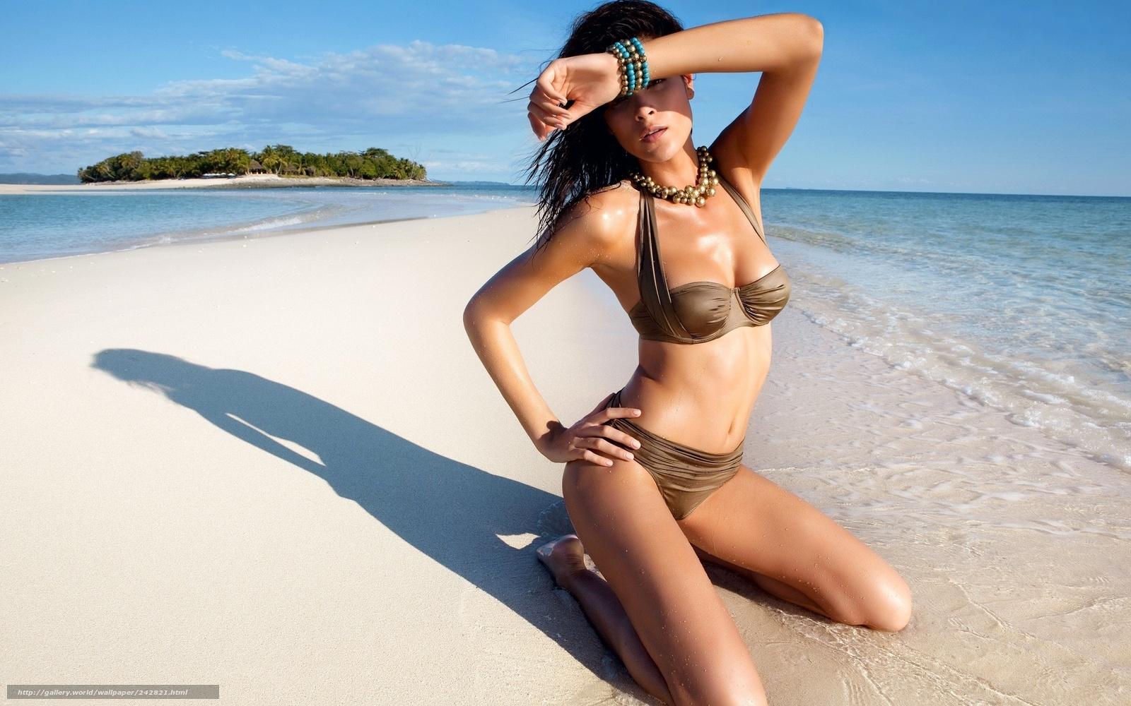 Фото девчонки на пляже 8 фотография