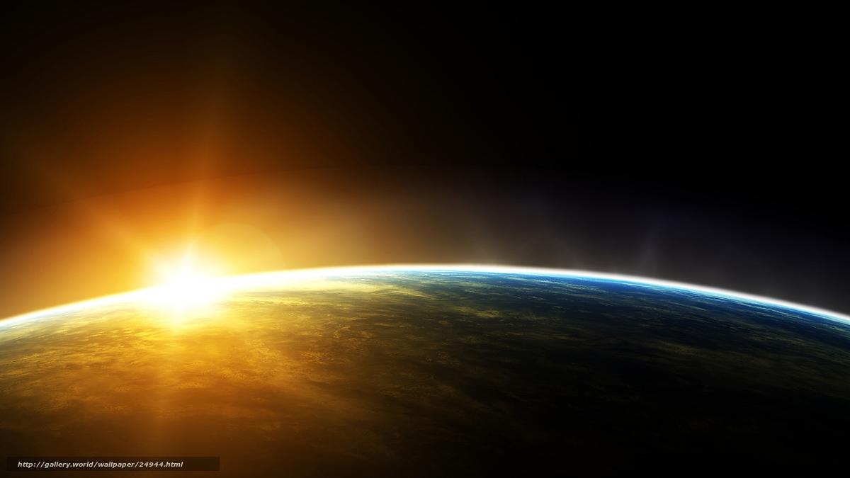 Обои земля планета космос солнце