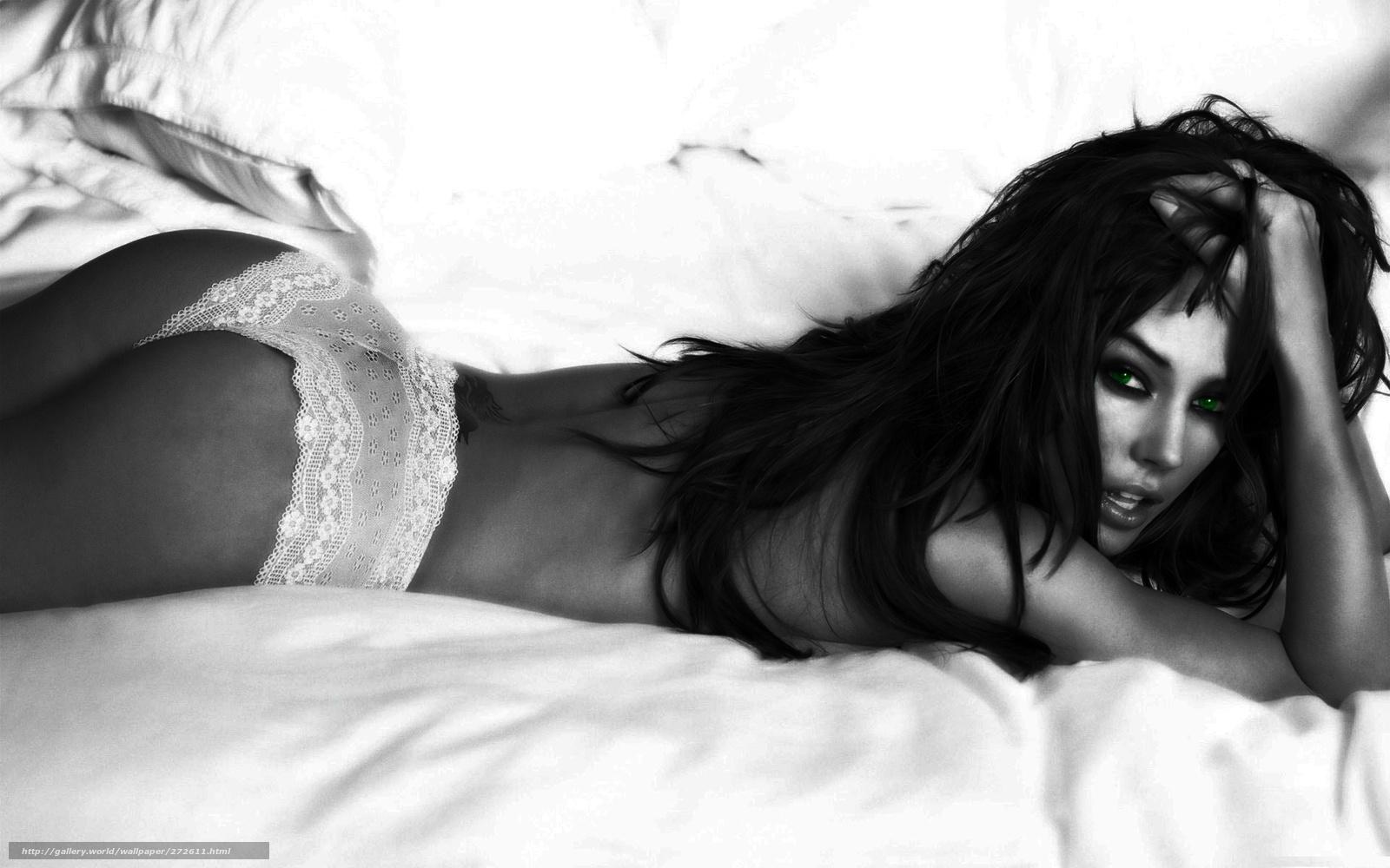 Фото красивых девушек черно белое брюнетки 2 фотография