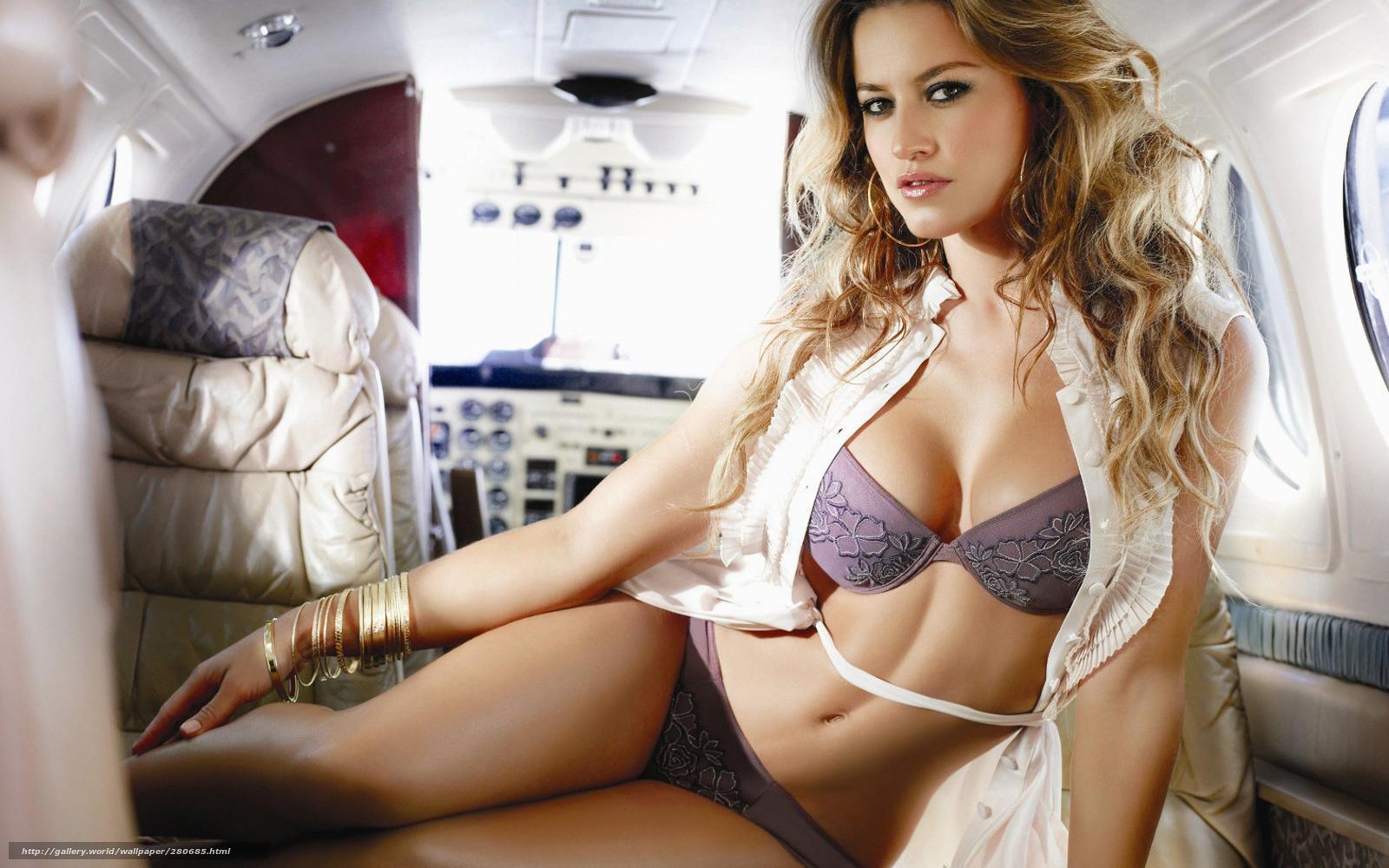 Фото девушки женщины в самолете 4 фотография