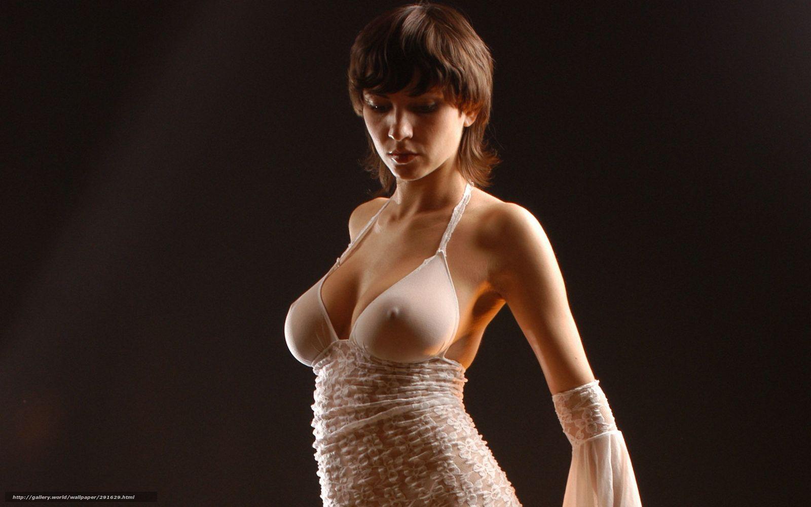 девушка в прозрачном платье на голое тело-аи1
