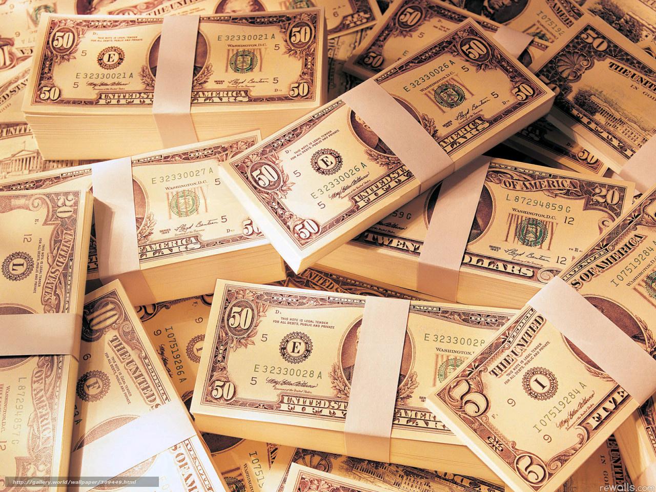 Скачать обои деньги доллары баксы