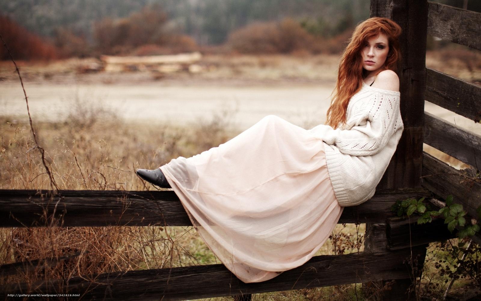 Фотки одиноких девушек красивых рыжих 3 фотография