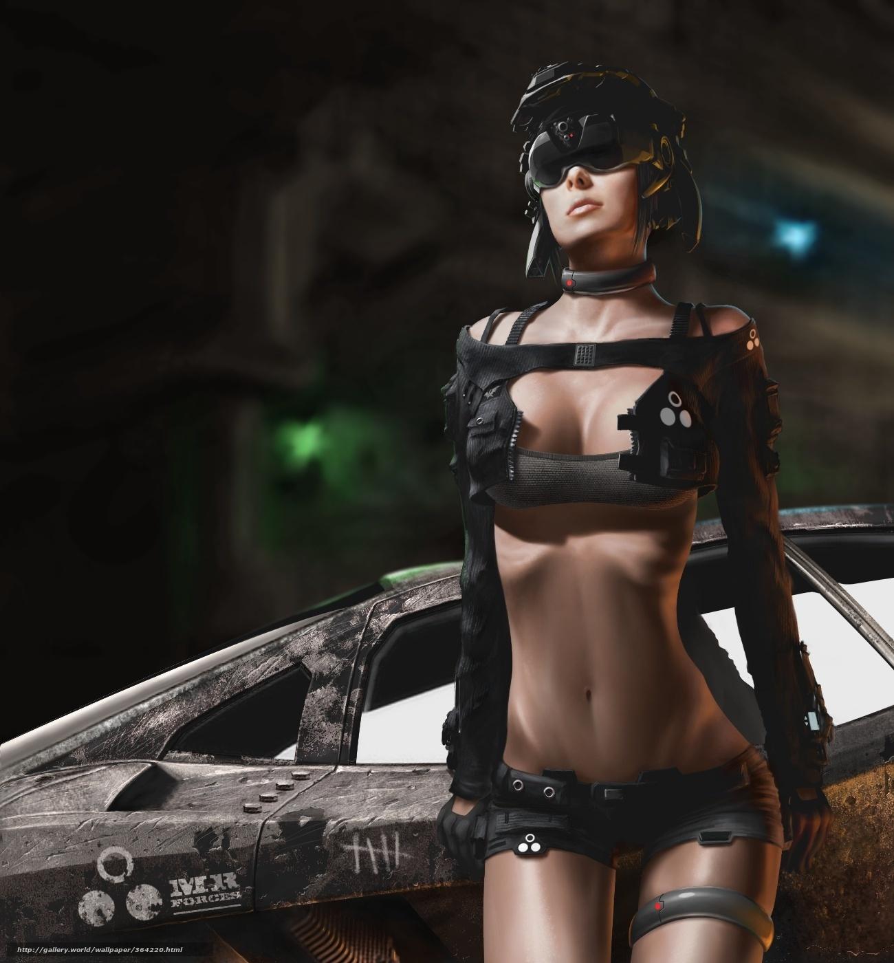 Erotic sci-fi fan art fucked clip