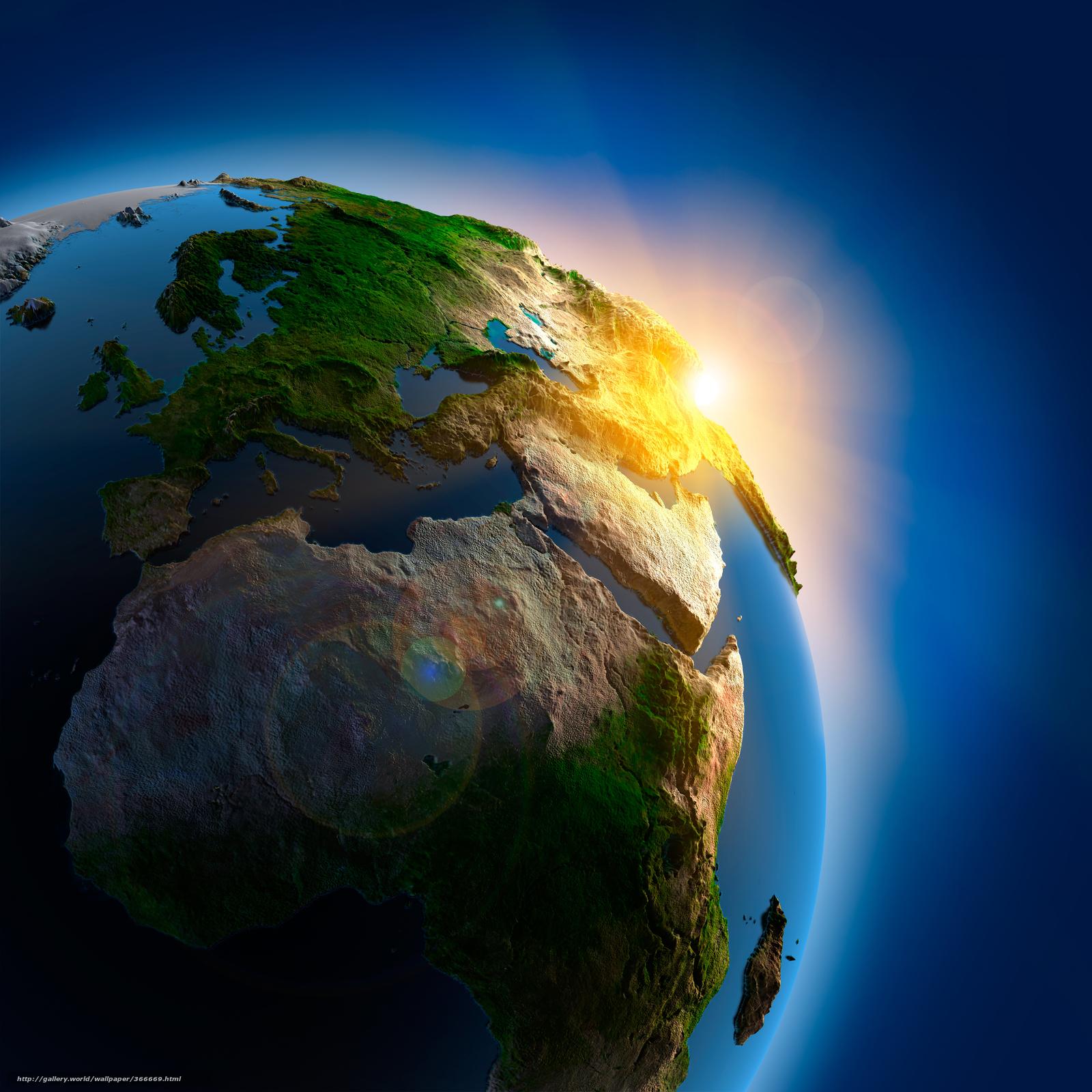 Скачать на телефон обои фото картинку на тему планета земля, космос, небо, горы, реки, море, океан, река, разширение 8100x8100