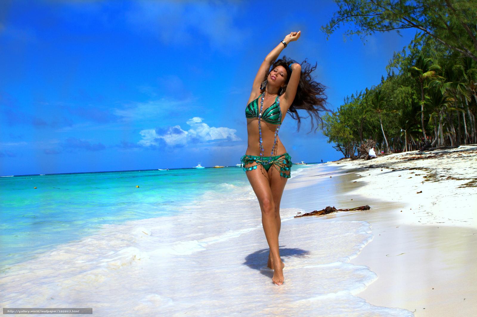 Фото модели пляж