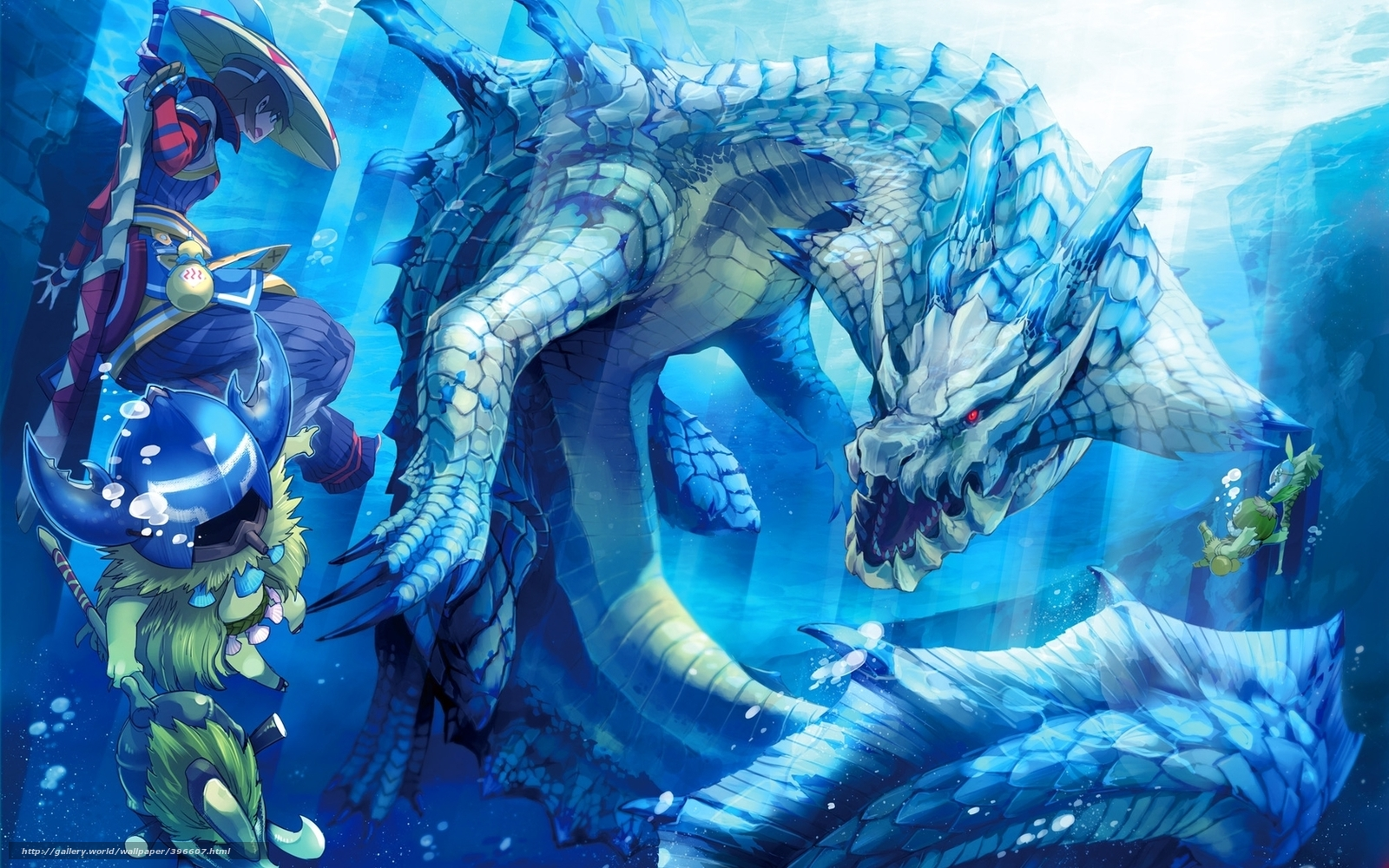 water magic dragon girl - photo #29