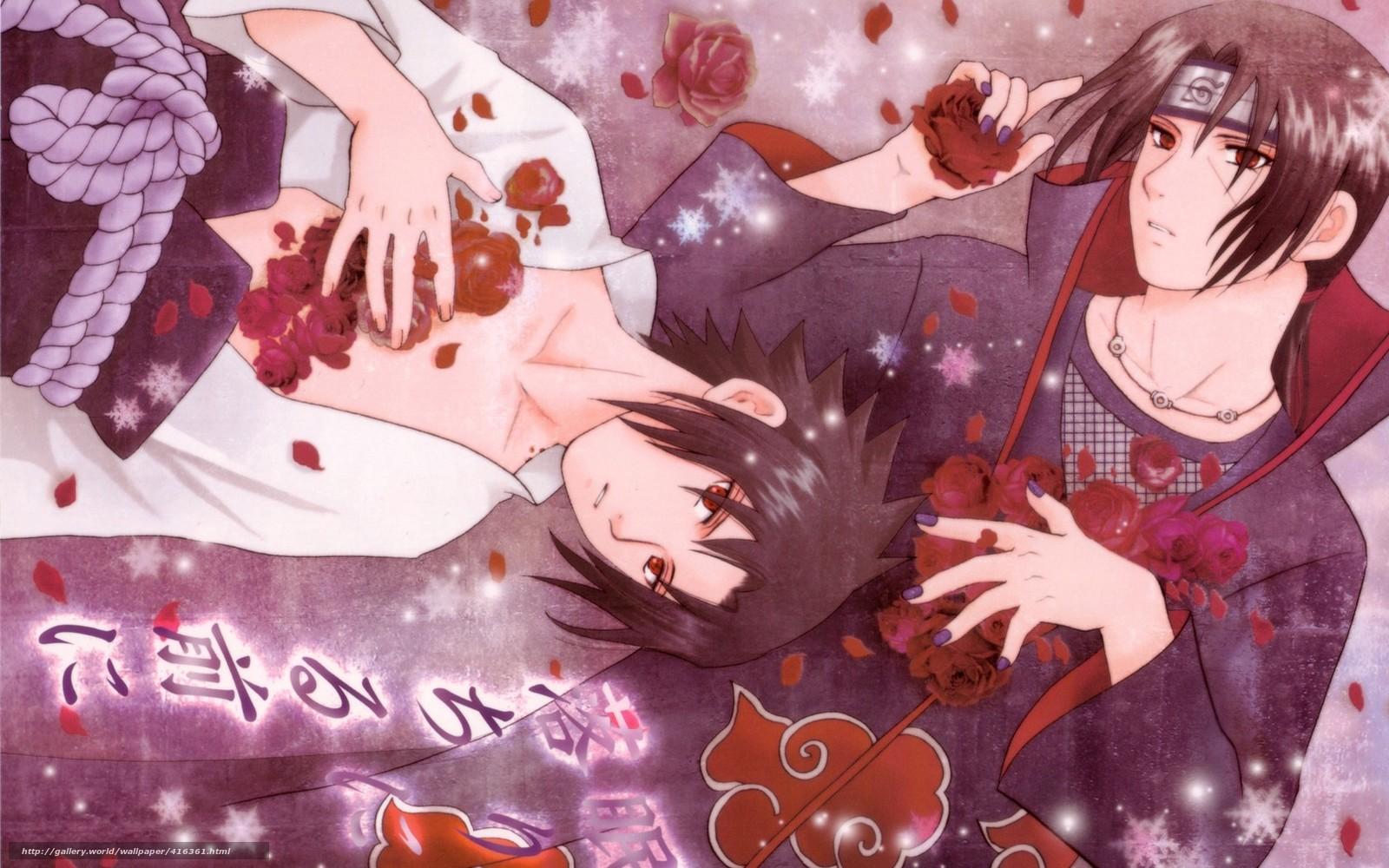 Наруто с цветами фото