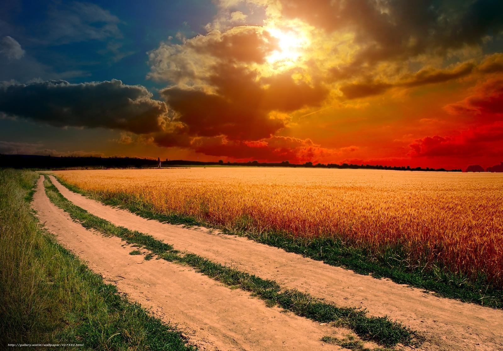 Himmel Wolken Sonne Wallpaper Himmel Wolken Sonne Feld