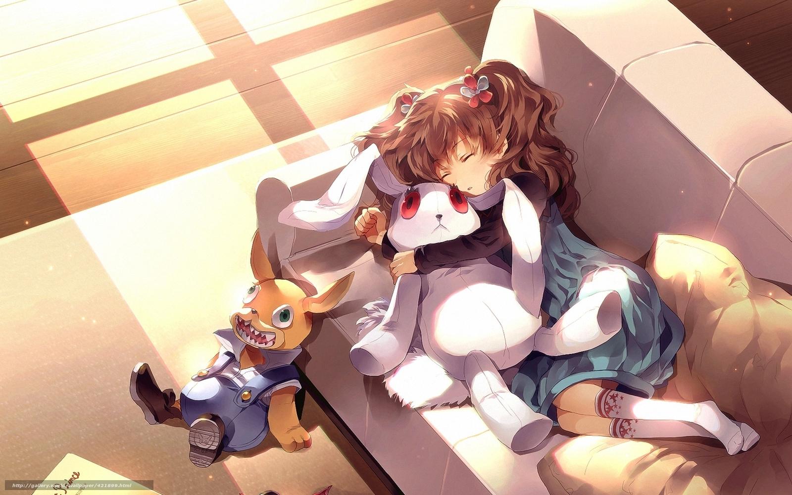 Спящие аниме девушки 10 фотография