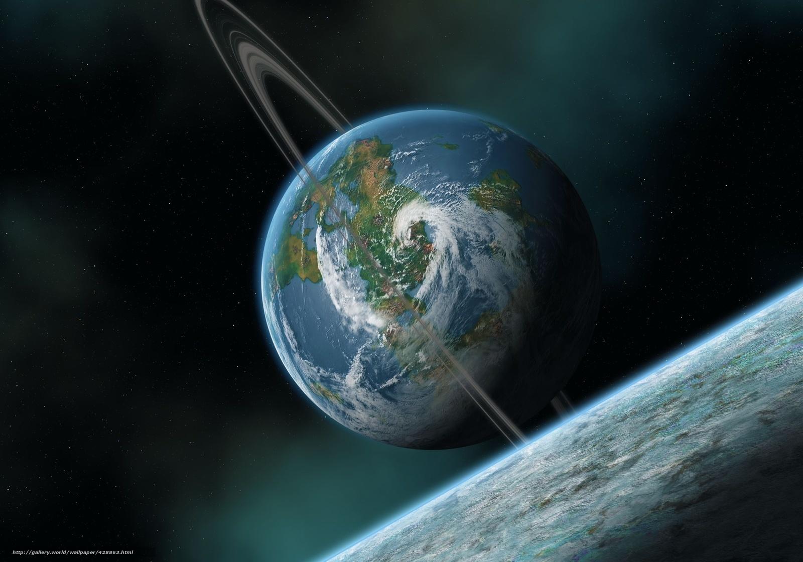 Скачать на телефон обои фото картинку на тему Спутник, луна, атмосфера, облака, циклон, море, вода, разширение 2560x1792