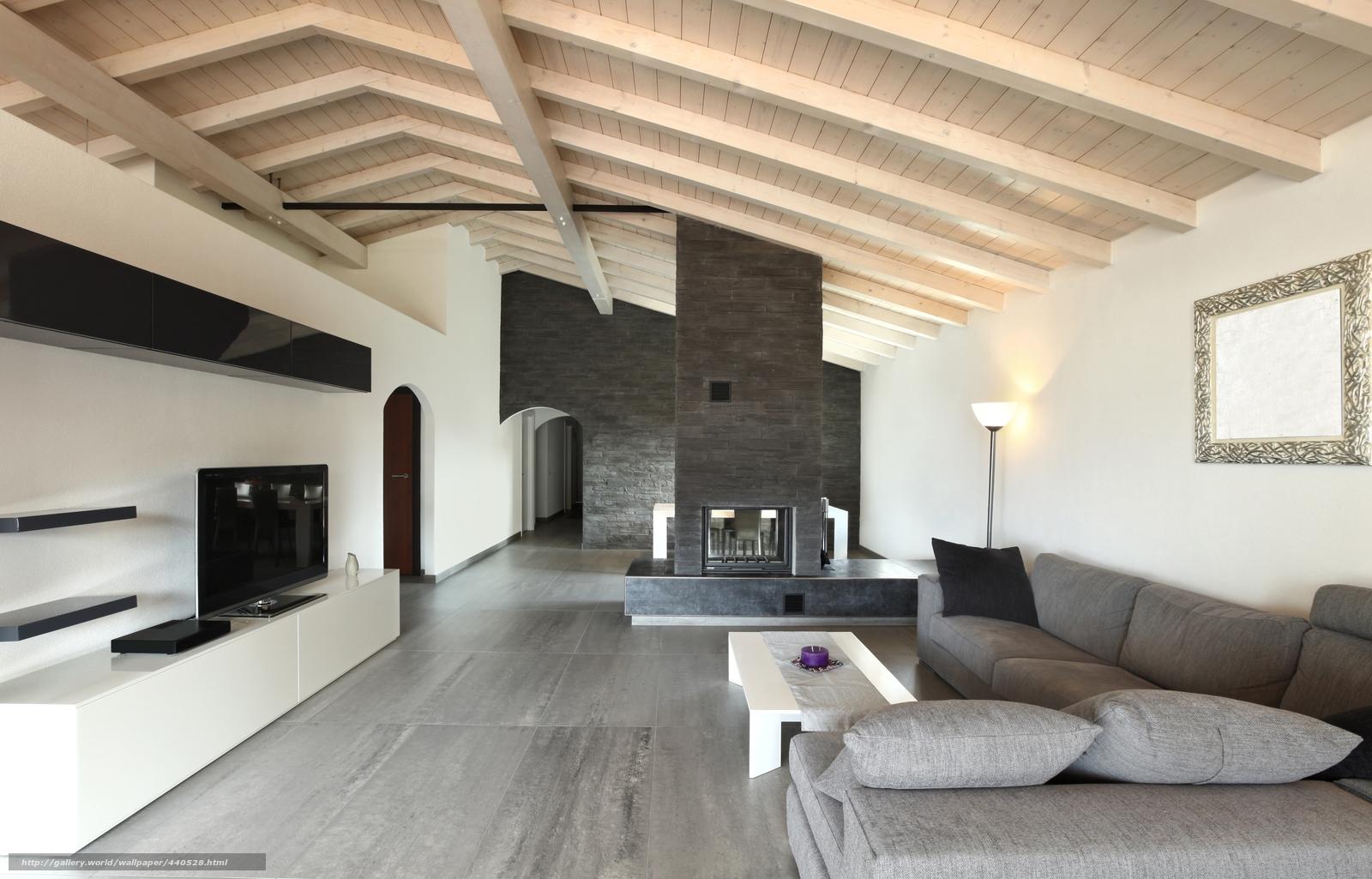 Tapete grau, Stil, Design, Wohnzimmer, Innen- №440528 / Abschnitt ...