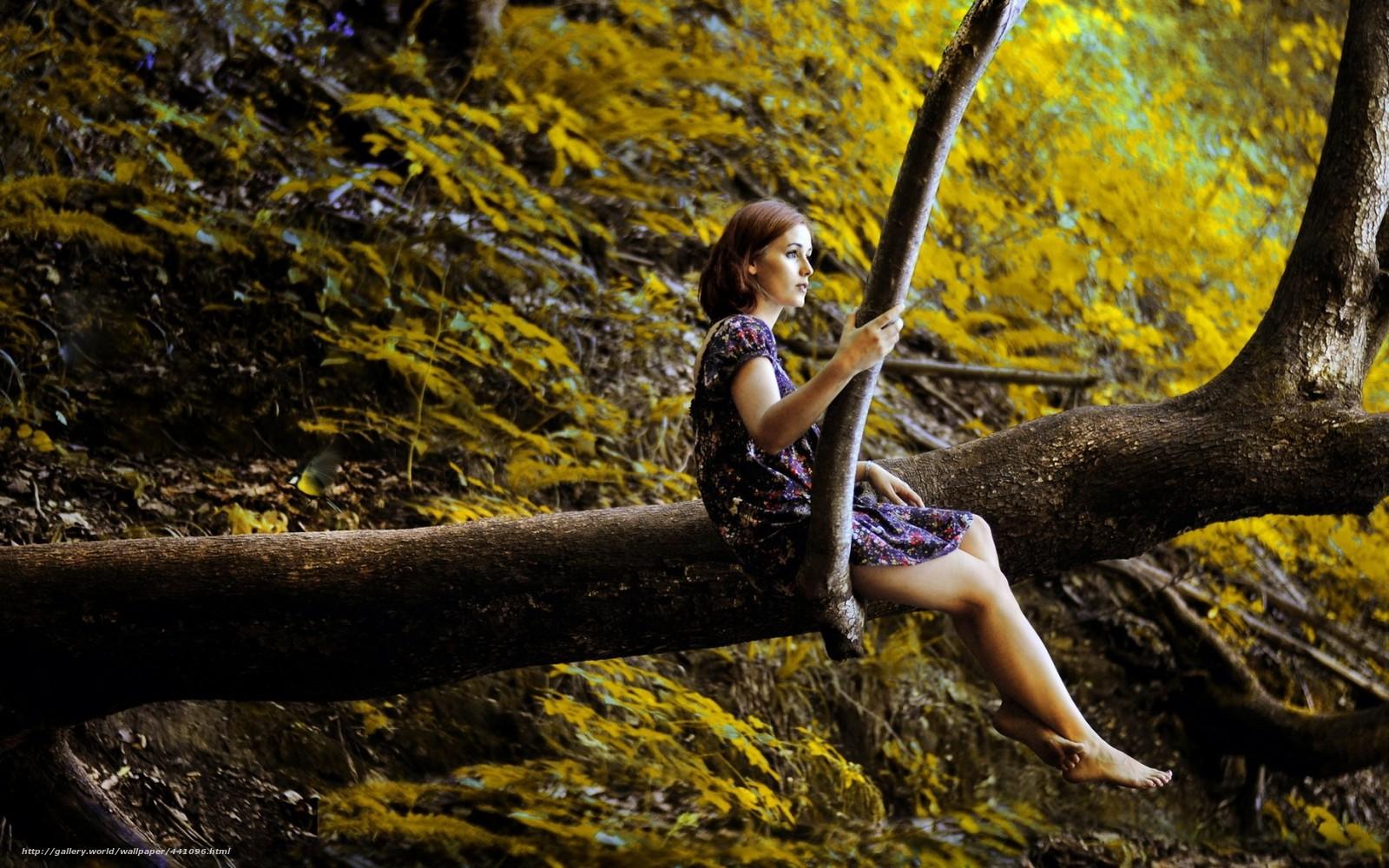 Девушка как дерево фото