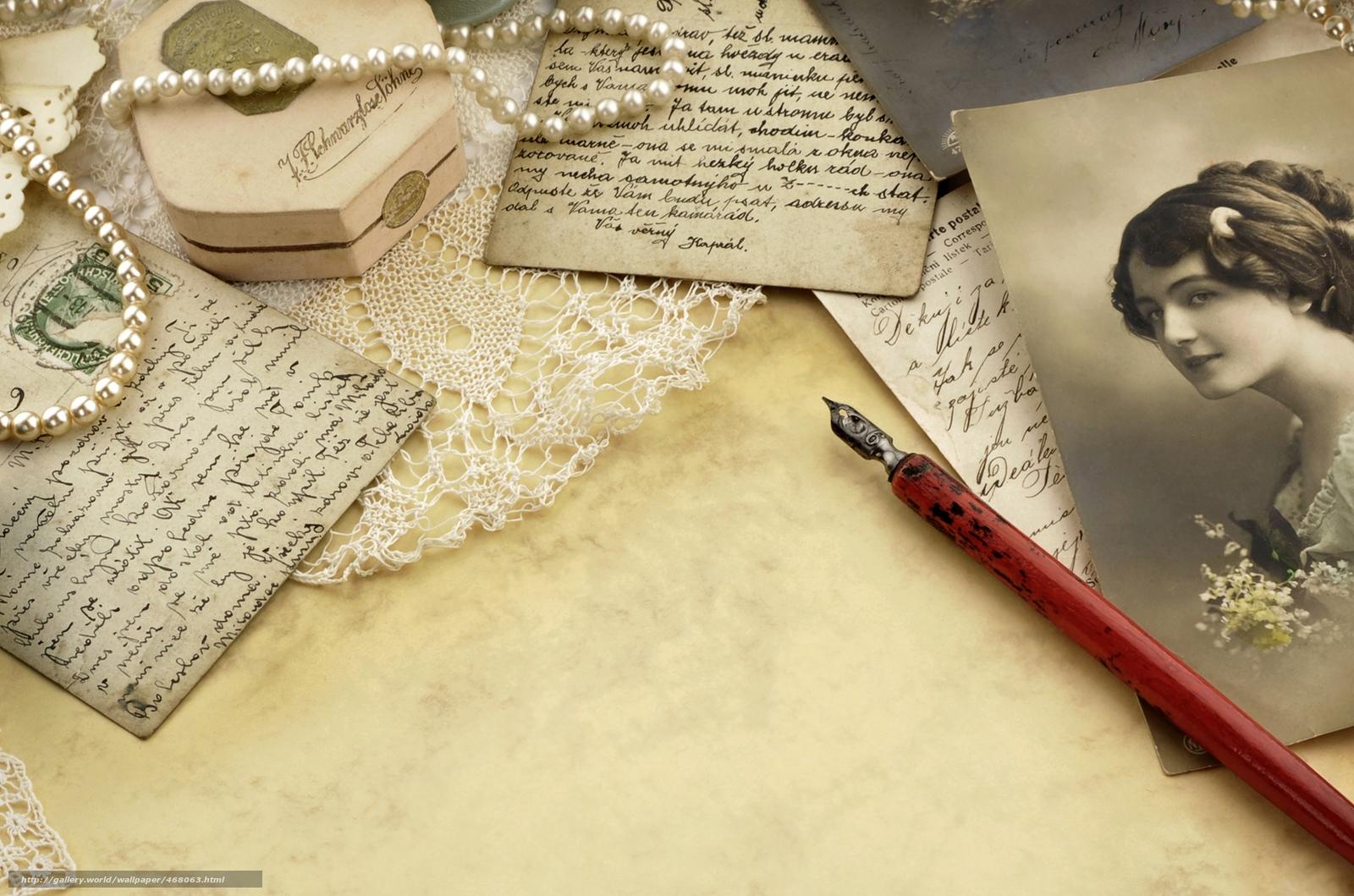 letras, cartes, retro, papel, Vintage, prola, velho, Fotos, menina, Mercadoria, tinta, manipular, pena, Contas, Renda