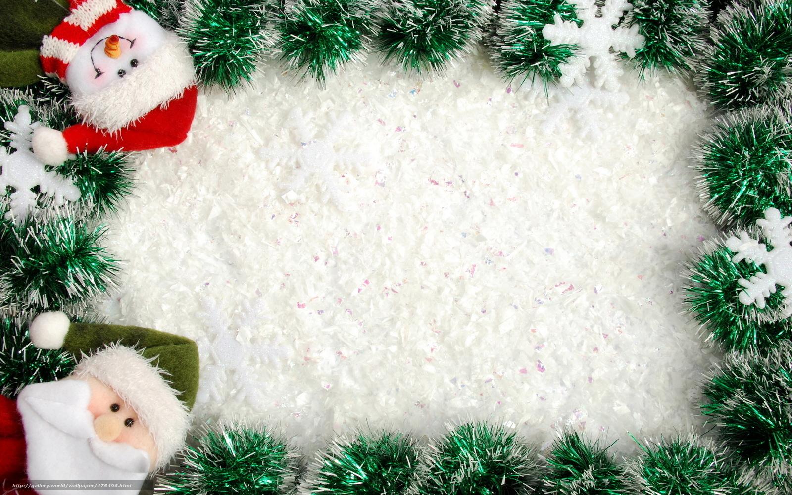 Weihnachten, Weihnachtsmann, Neujahr, Schneemann, Urlaub, Rahmen ...