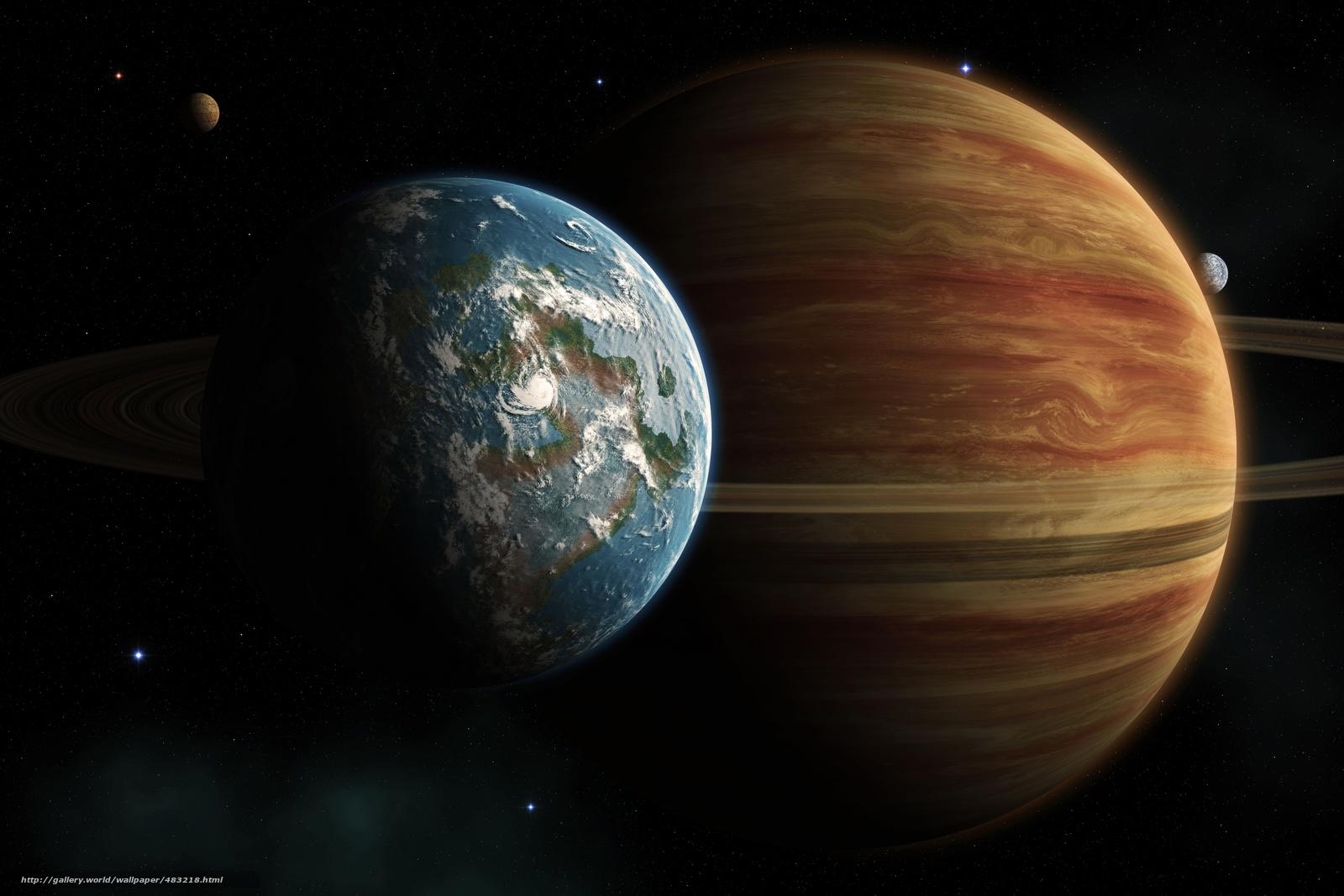Скачать на телефон обои фото картинку на тему Планета, спутник, сателлит, атмосфера, море, облака, разширение 7500x5000