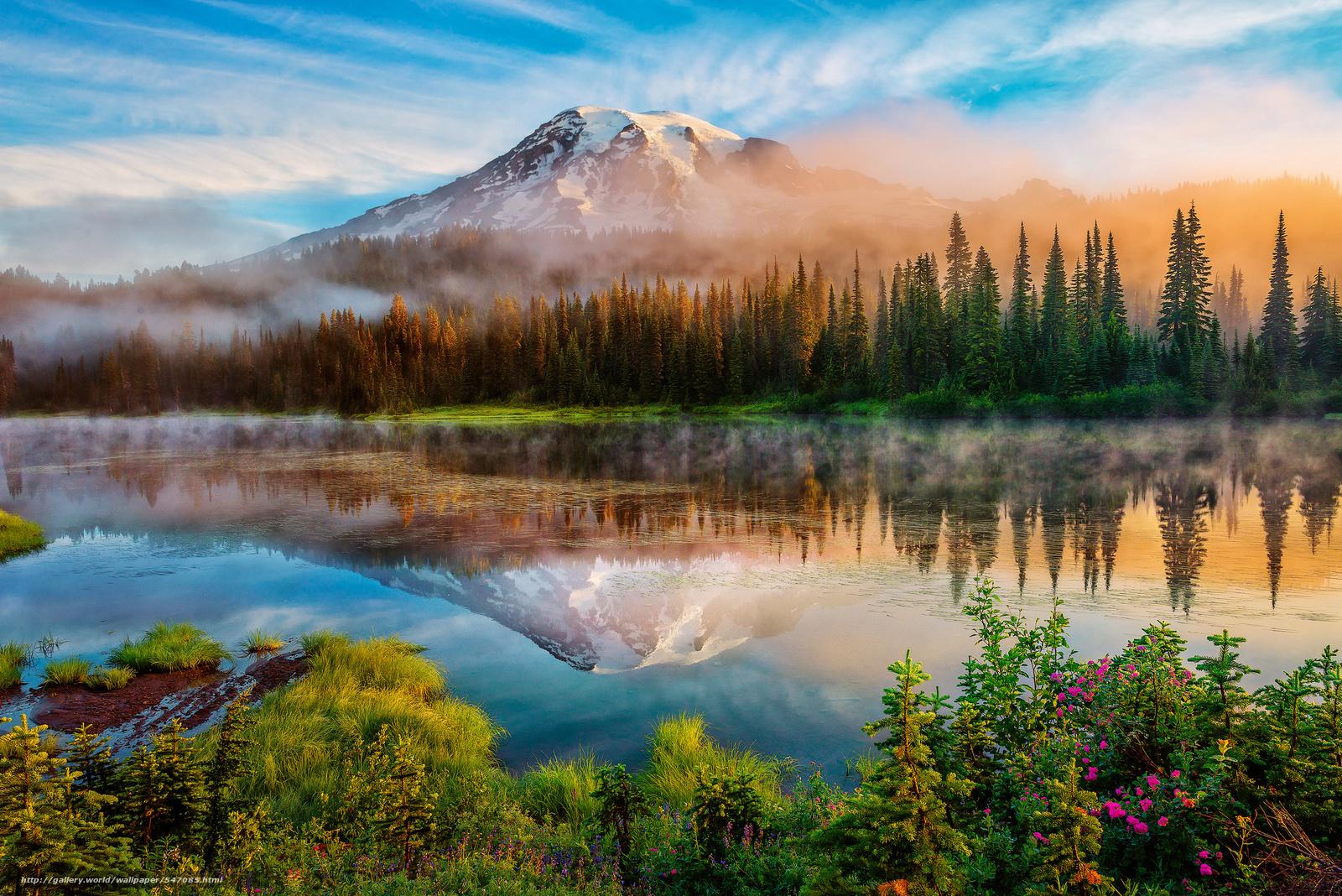каскадные горы, сша, штат вашингтон Скачать,  картинка, изображение, фото, обои