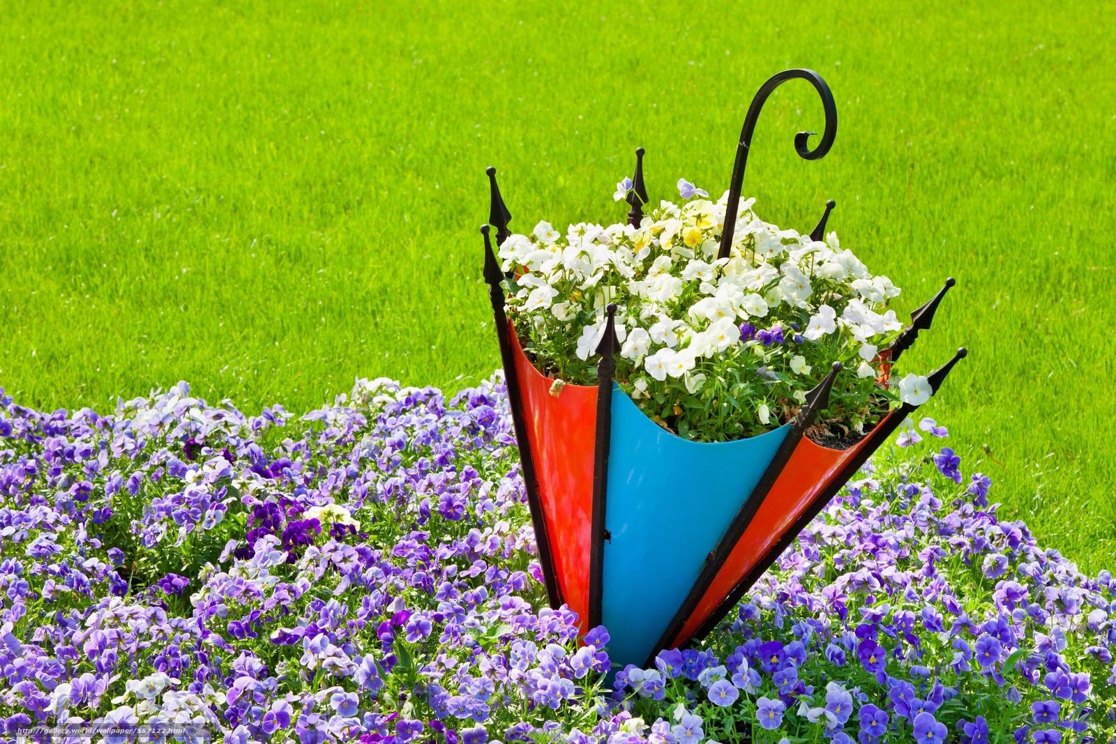 Цветы в зонтике своими руками