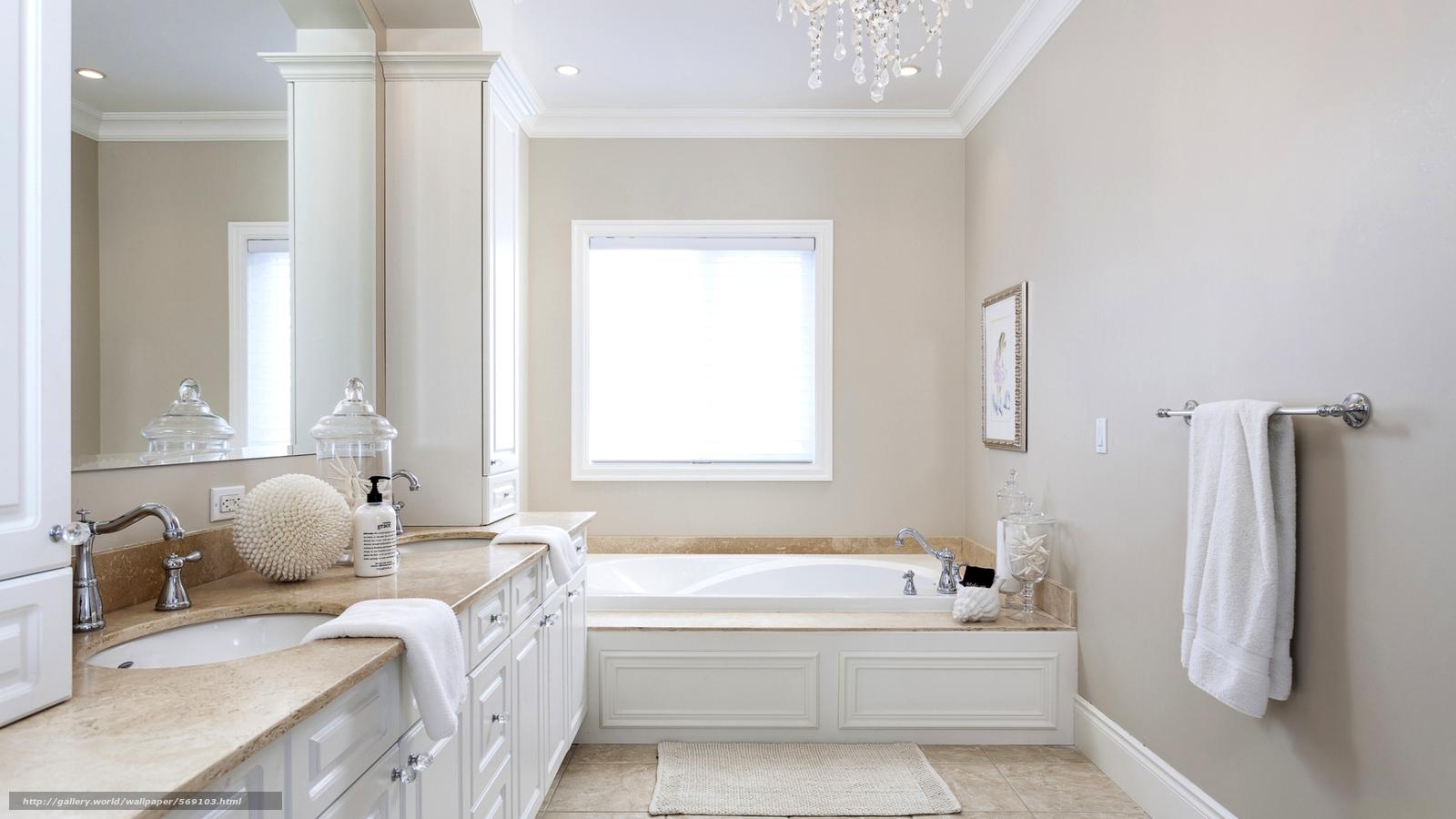 Papel de parede toalha, janela, gabinete, quarto, espelho №569103  Seção di