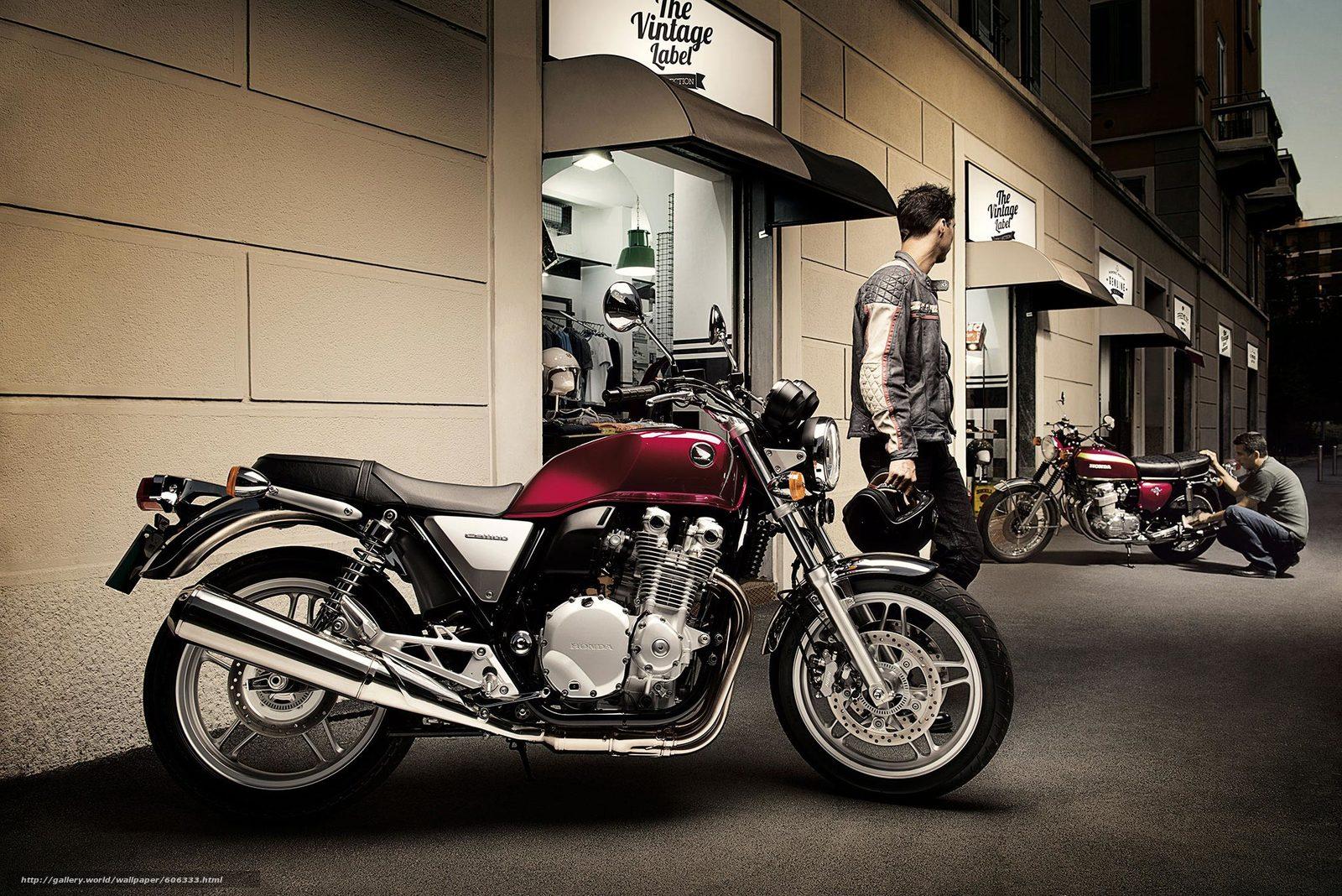 Скачать на телефон обои фото картинку на тему bike, Honda, профиль, CB1100A, Deluxue, ABS, разширение 2014x1344