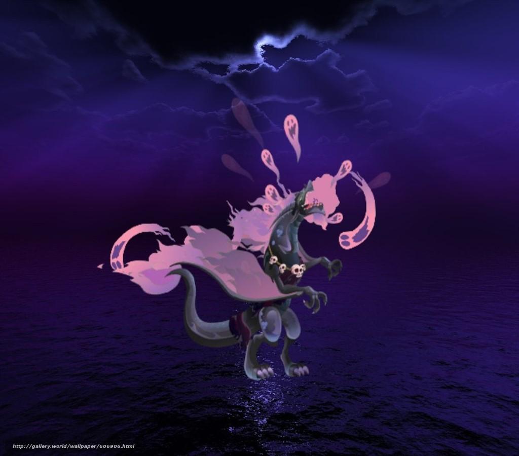 Скачать на телефон обои фото картинку на тему Hades, Dragon, Dark, Souls, Sea, Skuls, Хадес, Дракон, Тьма, Море, Череп, разширение 1024x900