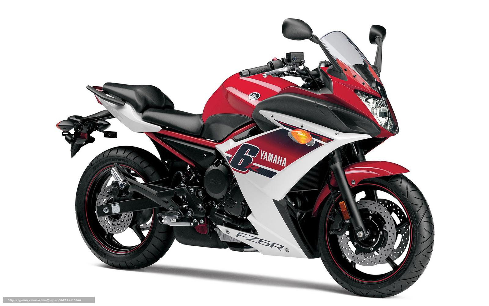 Скачать на телефон обои фото картинку на тему motorcycle, 2015, Yamaha, FZ6R, разширение 1920x1200