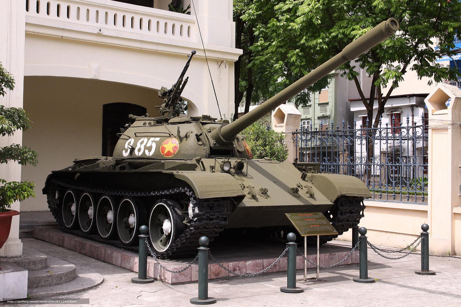Скачать на телефон обои фото картинку на тему т-54б, советский, средний, танк, бронетехника, оружие, ссср, вьетнам, разширение 2048x1365