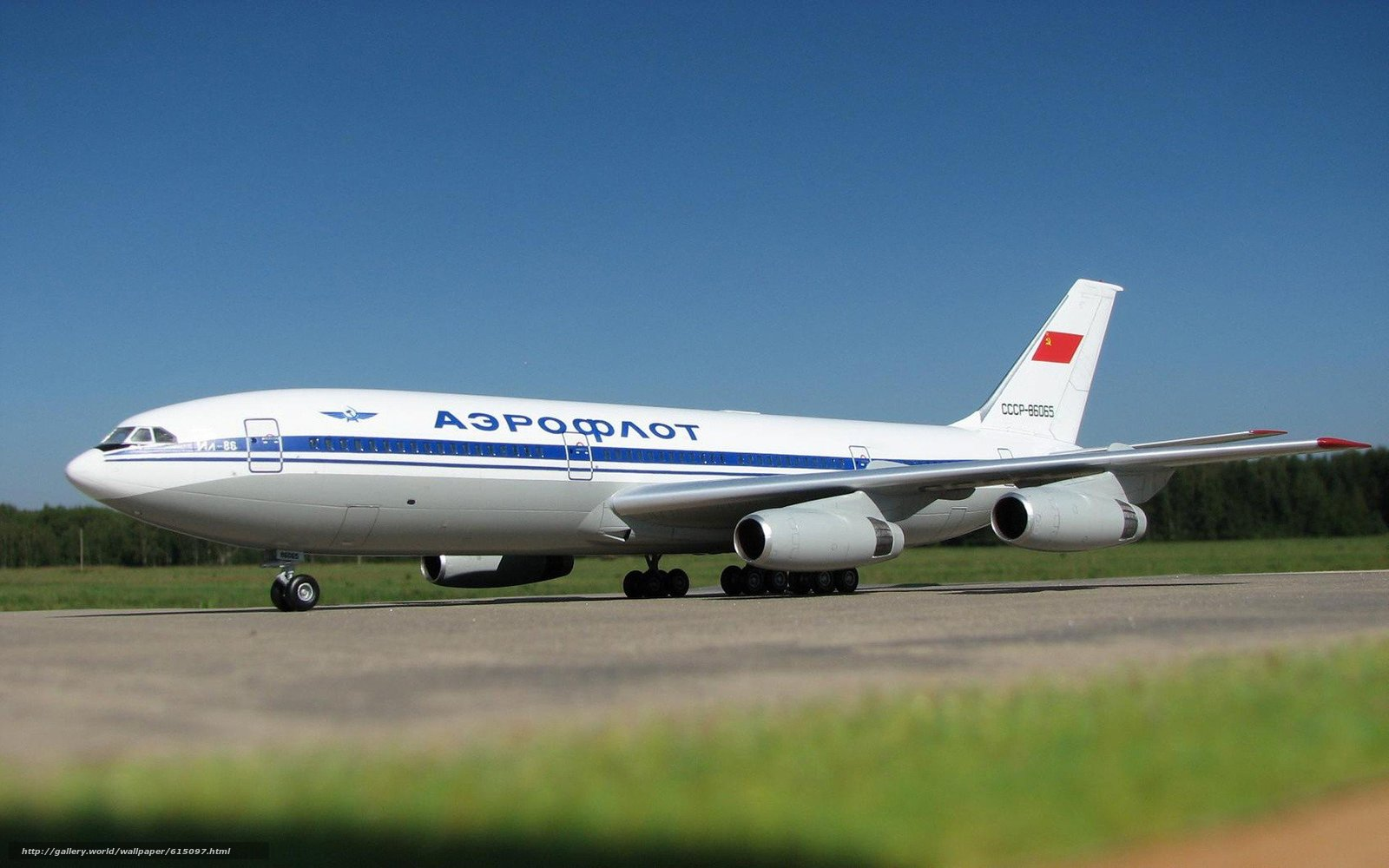 Скачать на телефон обои фото картинку на тему самолёт, ИЛ-86, Аэрофлот, СССР, разширение 1920x1200