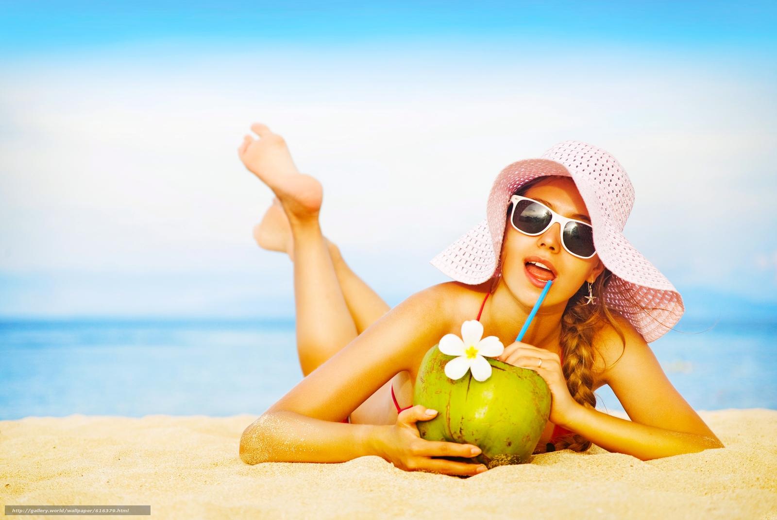 Цветы фото на пляже девушек