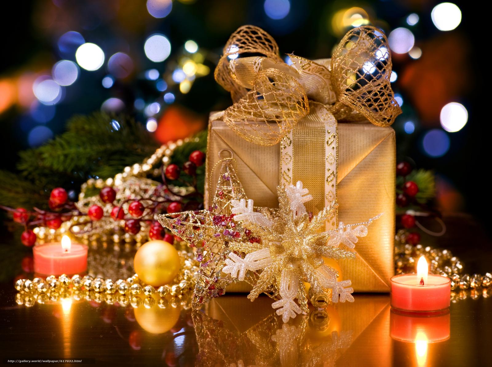Скачать на телефон обои фото картинку на тему новый, год, украшения, подарки, разширение 7572x5644