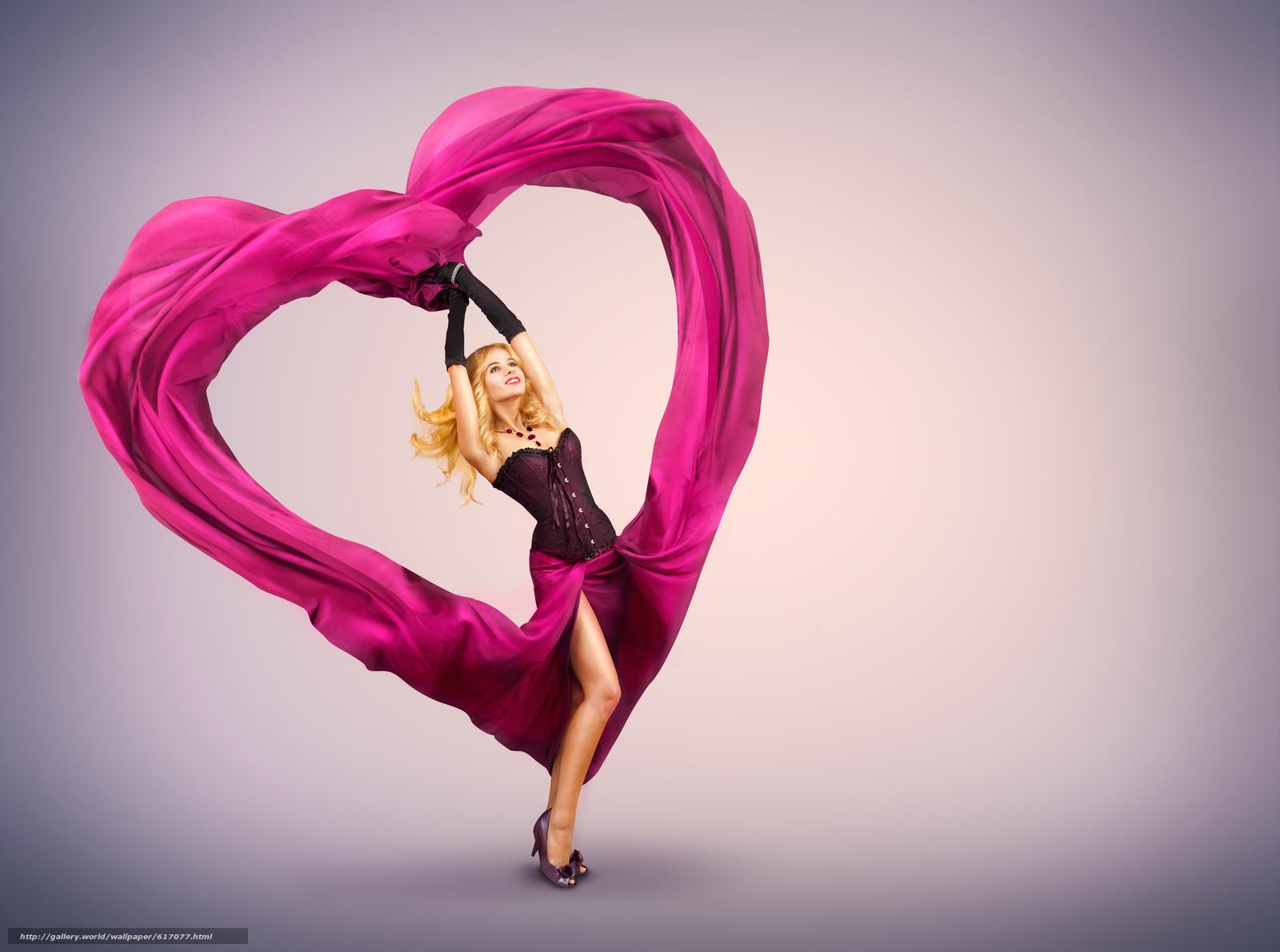 Скачать на телефон обои фото картинку на тему валентинка, девушка, платье, разширение 5513x4100