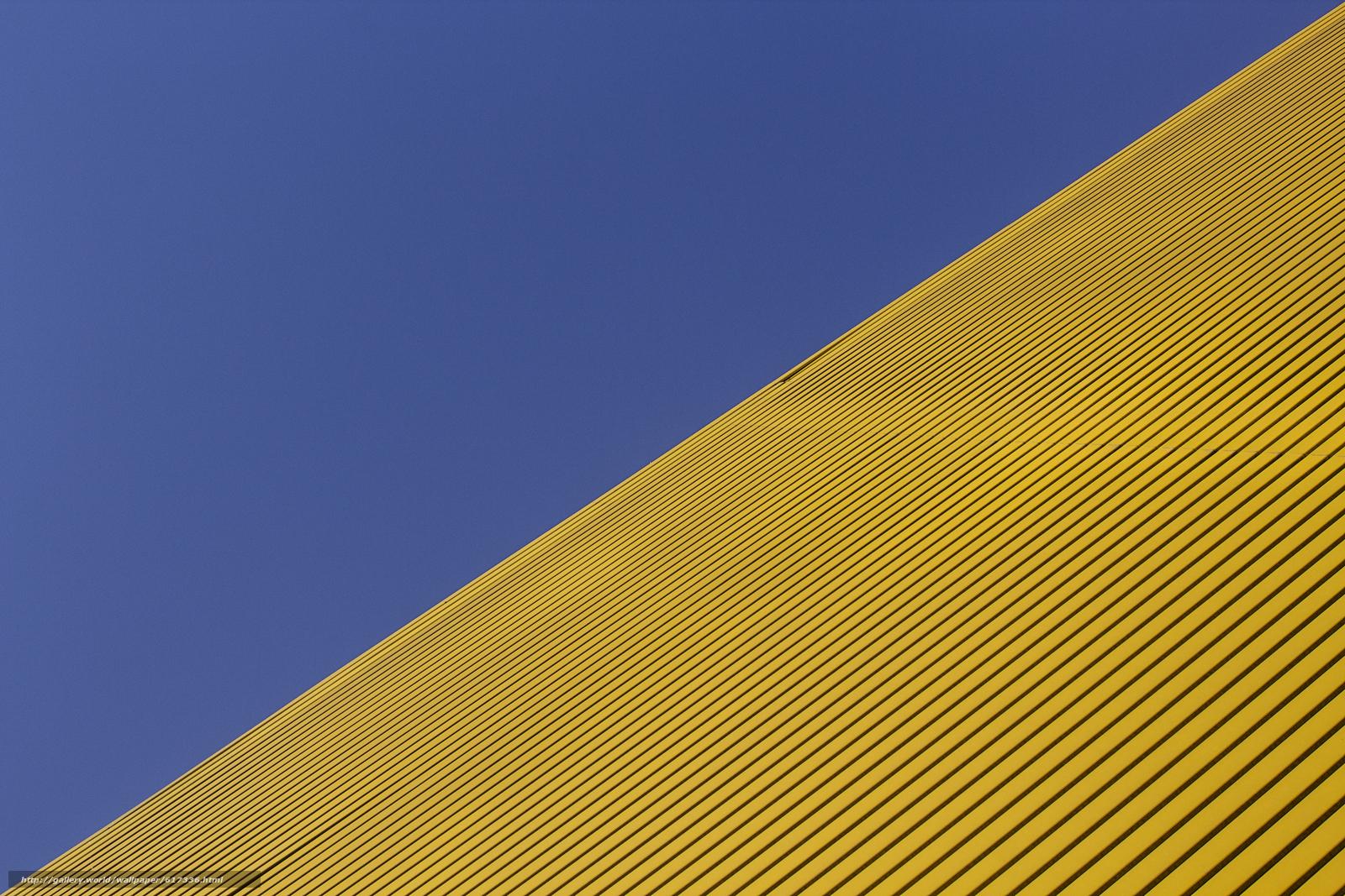 Скачать на телефон обои фото картинку на тему диагональ, синий, жёлтый, разширение 5184x3456