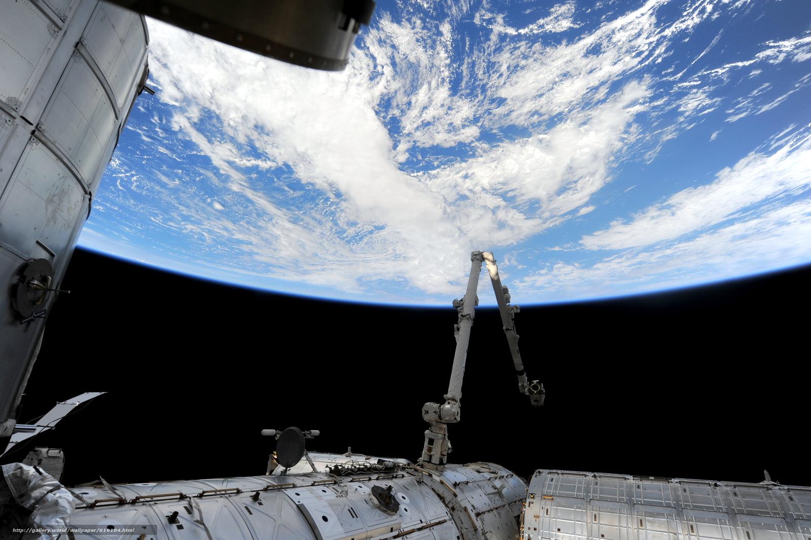 Скачать на телефон обои фото картинку на тему Атлантический океан, Земля, МКС, космос, разширение 4256x2832