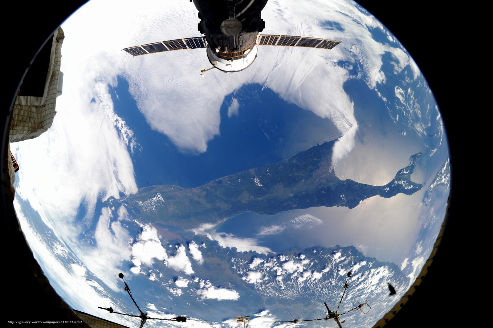 Скачать на телефон обои фото картинку на тему Земля, остров, Сахалин, Россия, МКС, космос, разширение 4256x2832