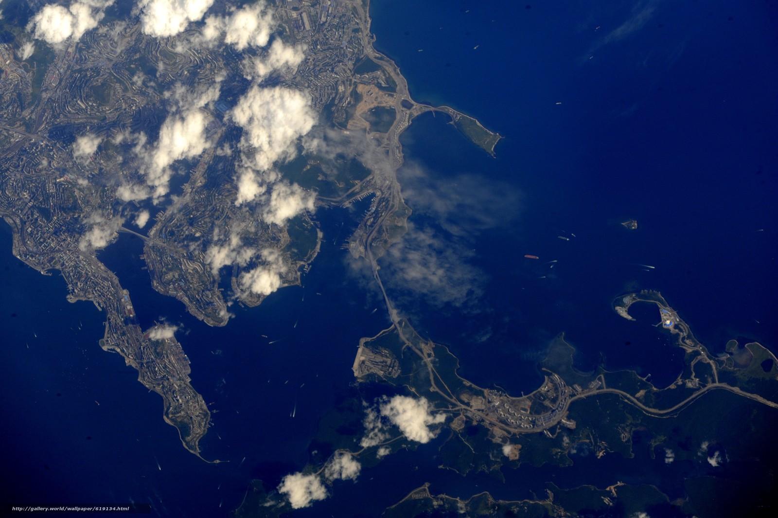 Скачать на телефон обои фото картинку на тему Города, Владивосток, Россия, космос, МКС, разширение 4256x2832