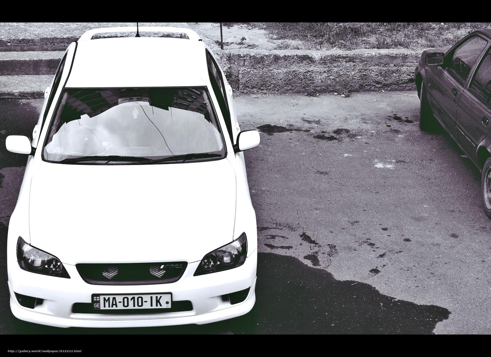 Скачать на телефон обои фото картинку на тему toyota, altezza, trd, white, car, sport, drift, разширение 1920x1396