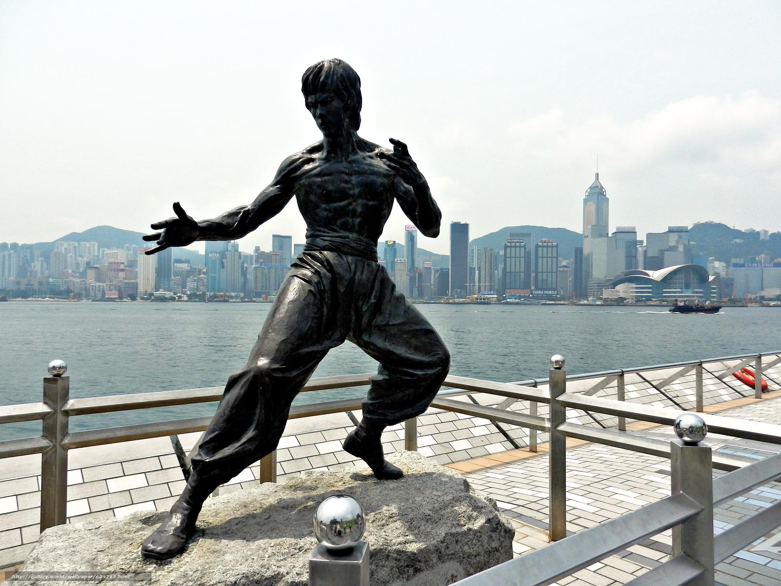 Скачать на телефон обои фото картинку на тему Bruce Lee, Hong Kong, China, разширение 4000x3000