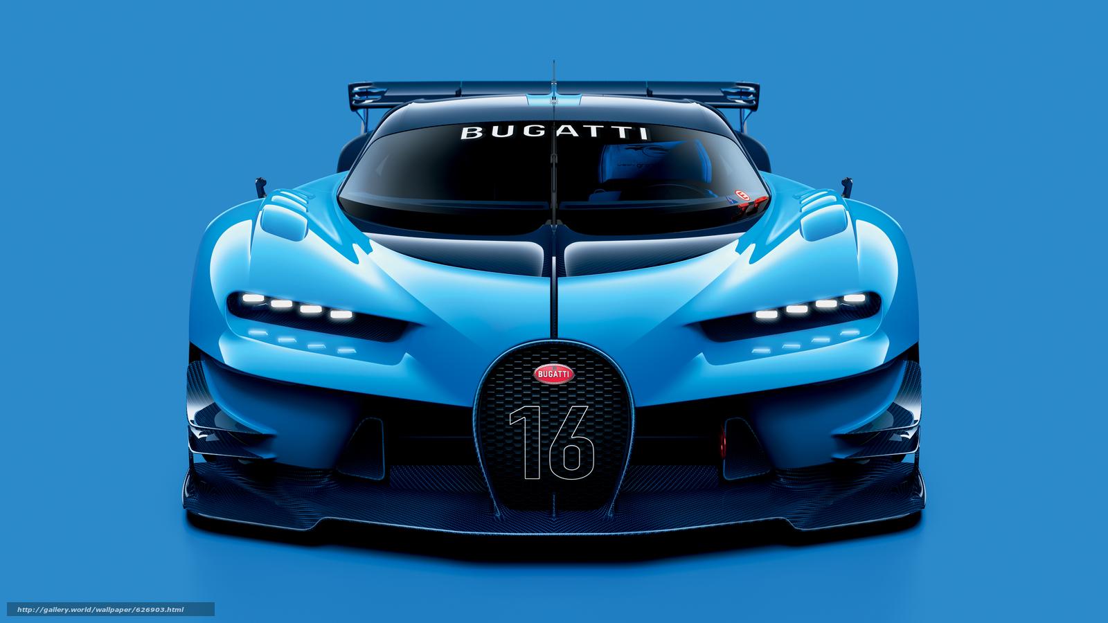 Скачать на телефон обои фото картинку на тему 2015, Bugatti, Vision, Gran Turismo, разширение 6299x3543