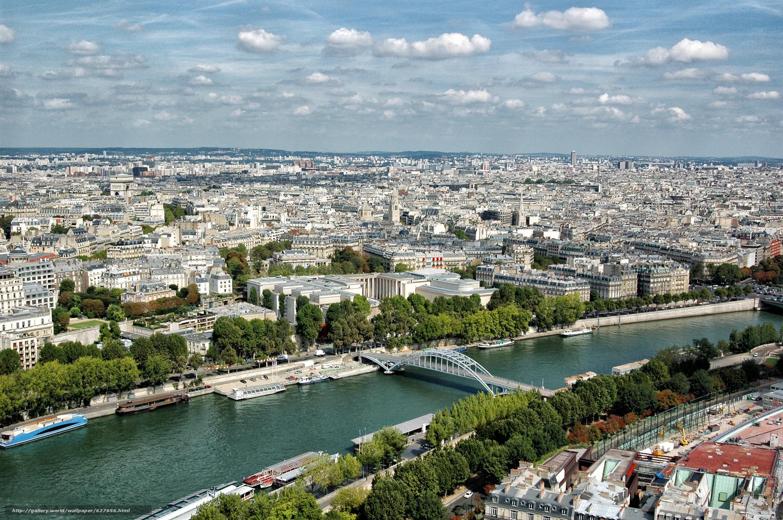 Скачать на телефон обои фото картинку на тему Paris, France, вид с верху, разширение 3008x2000